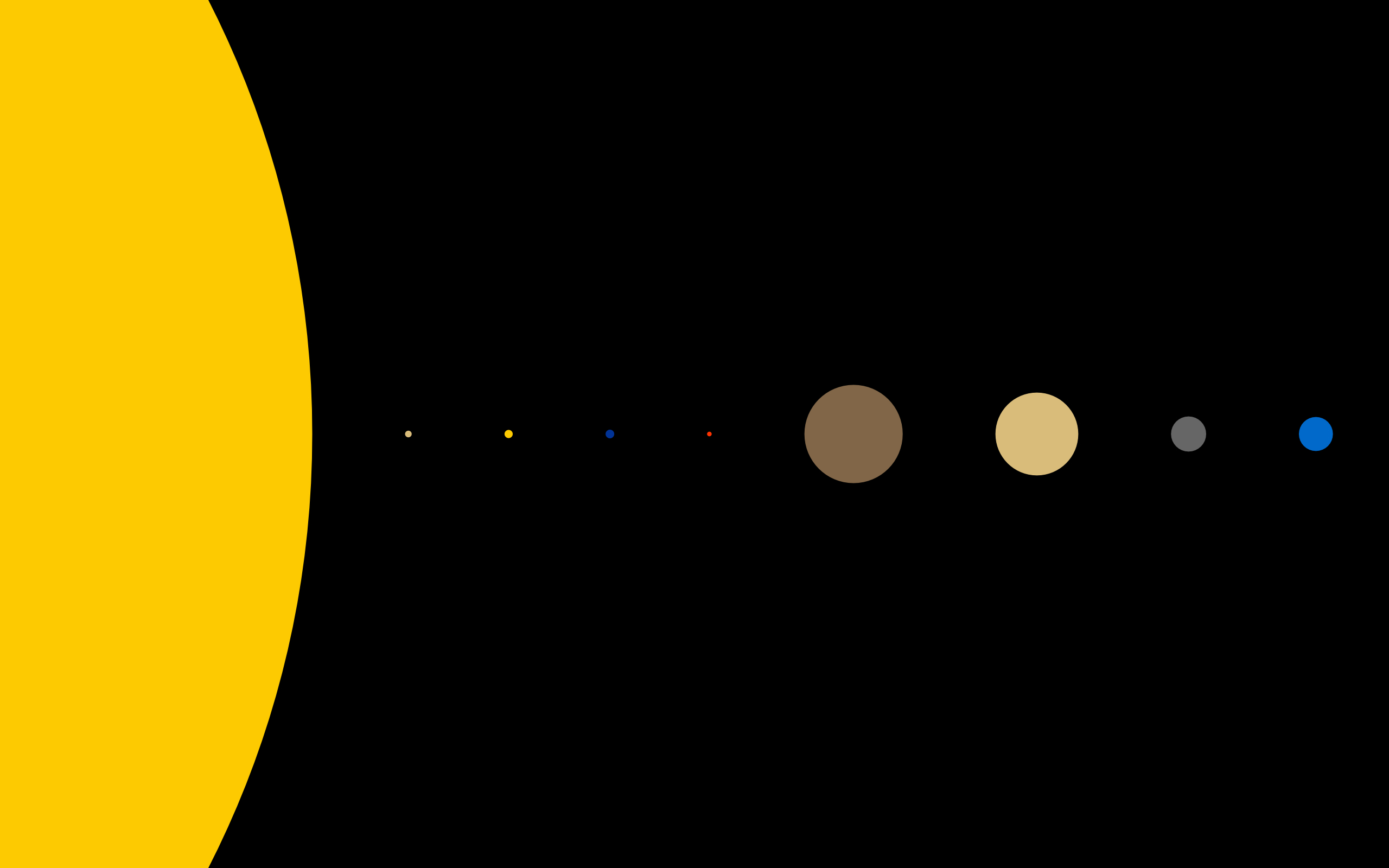 minimalistic Solar system Space HD Wallpaper