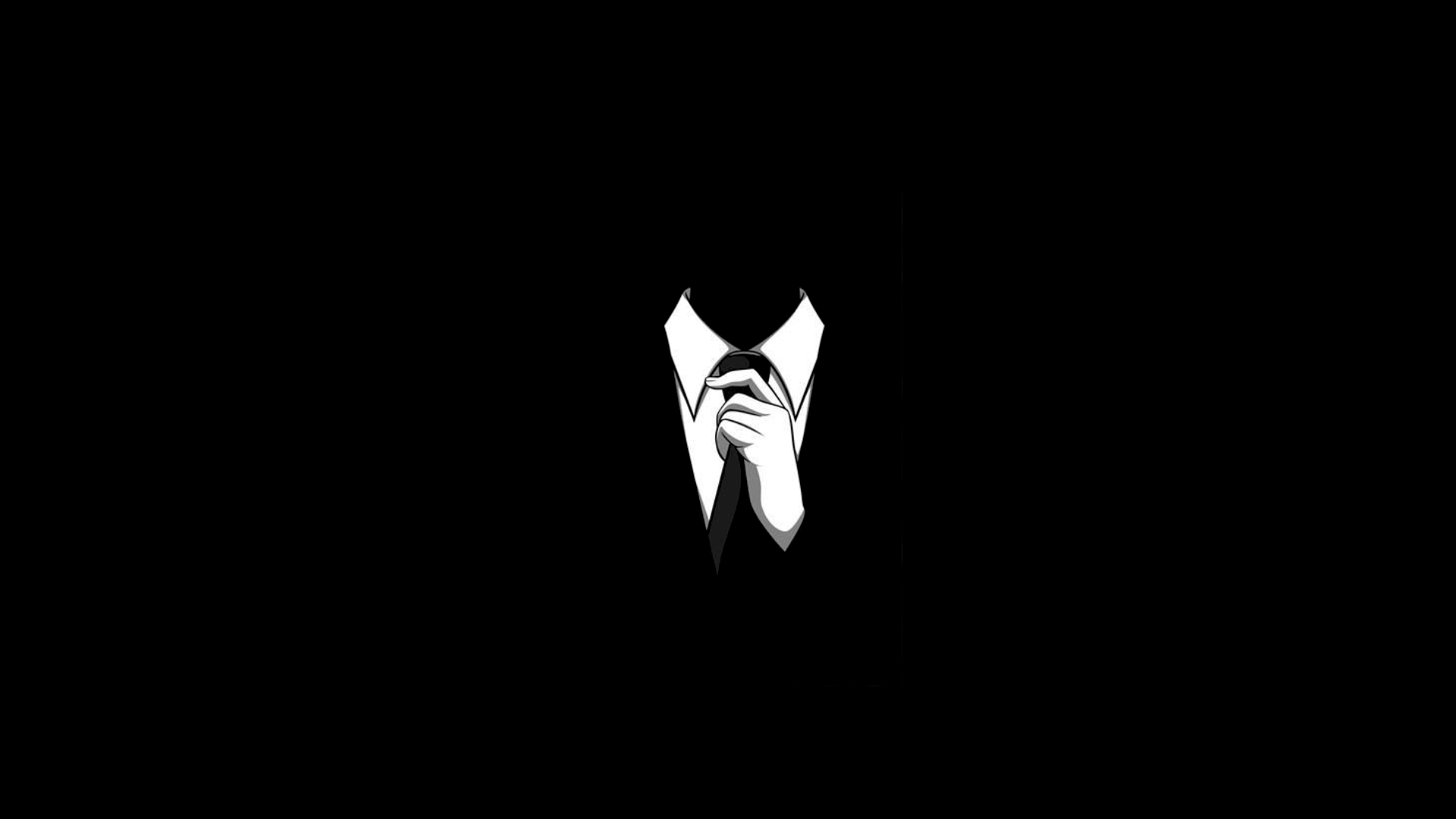 minimalistic suit tie HD Wallpaper