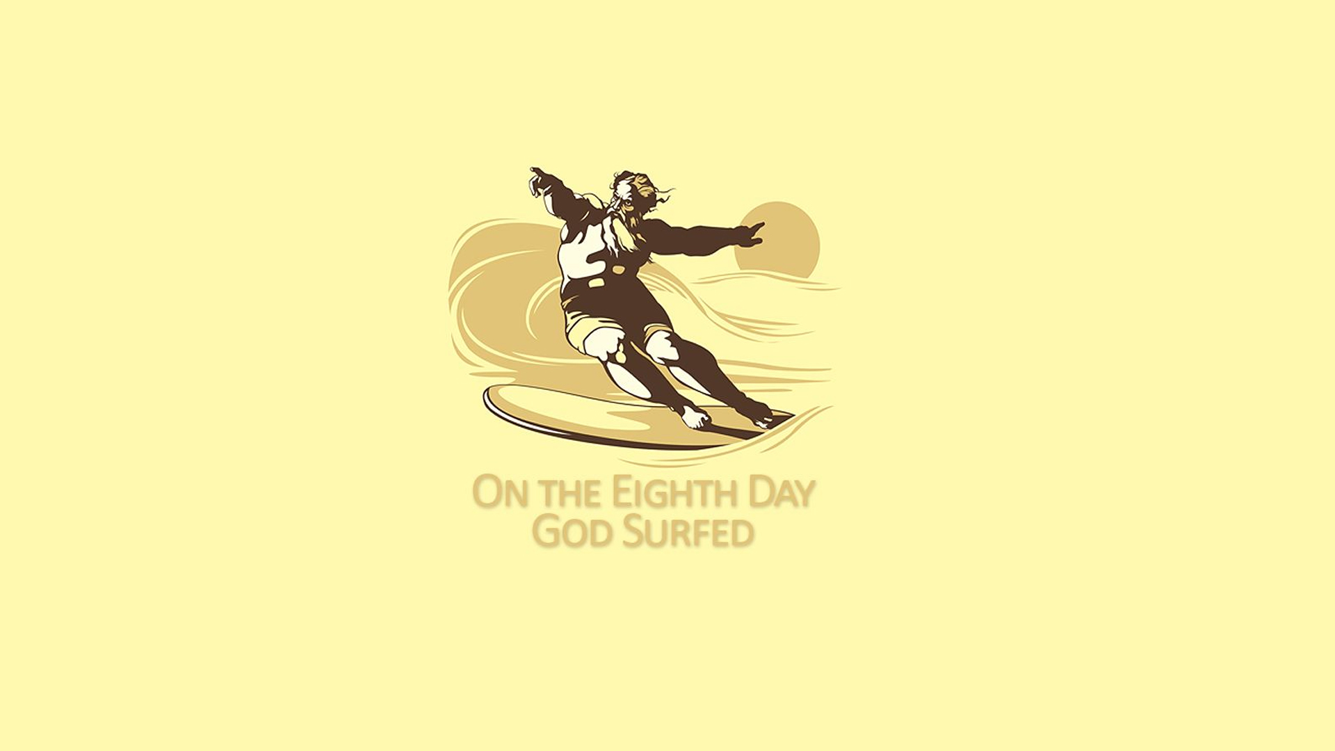 minimalistic text god surfing HD Wallpaper