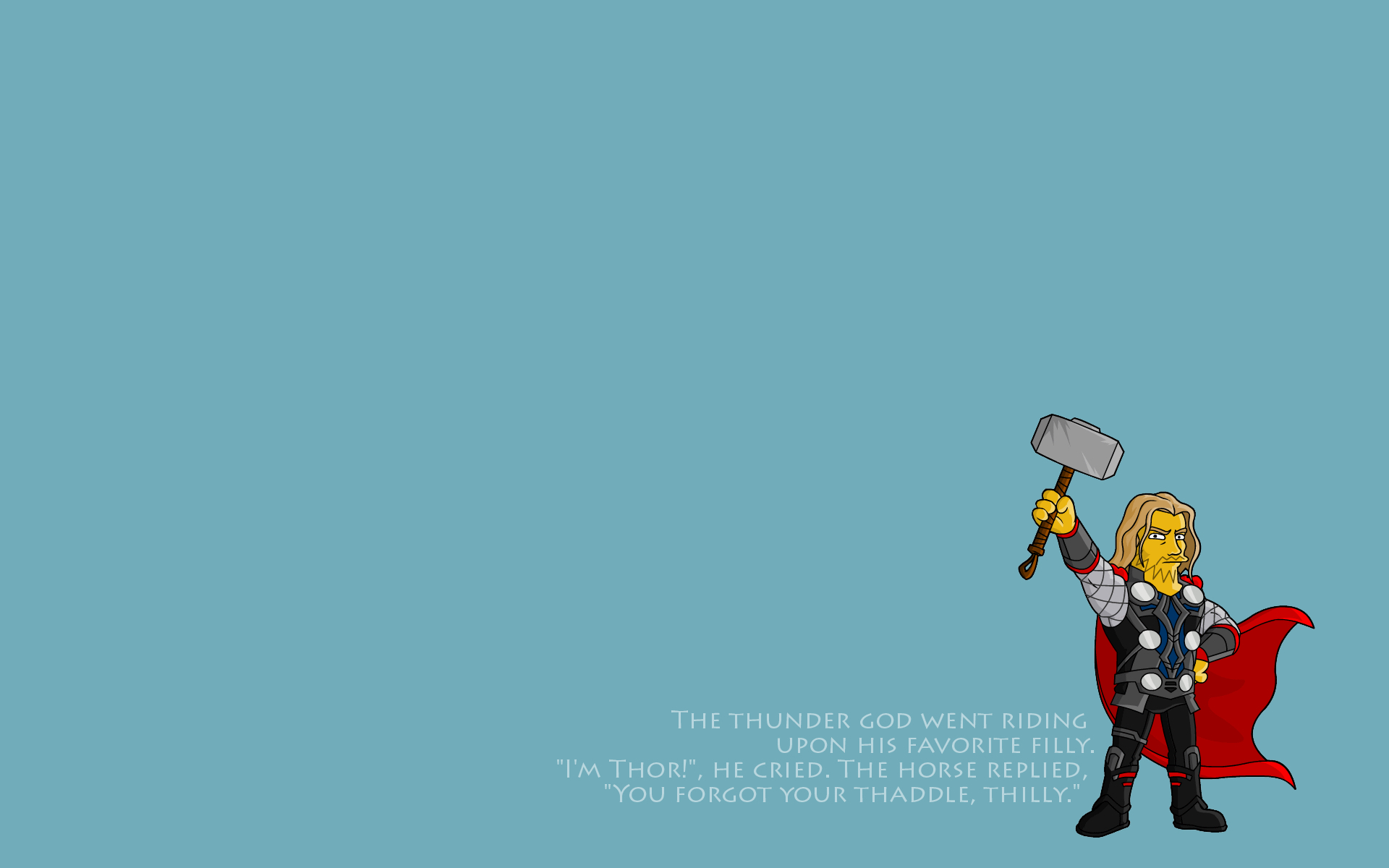 minimalistic text thor The HD Wallpaper
