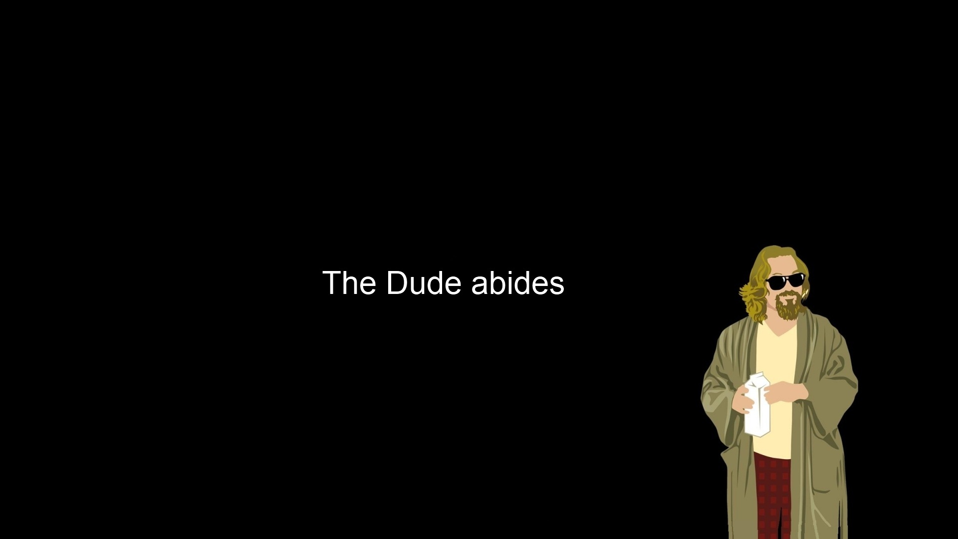 minimalistic The Dude The HD Wallpaper
