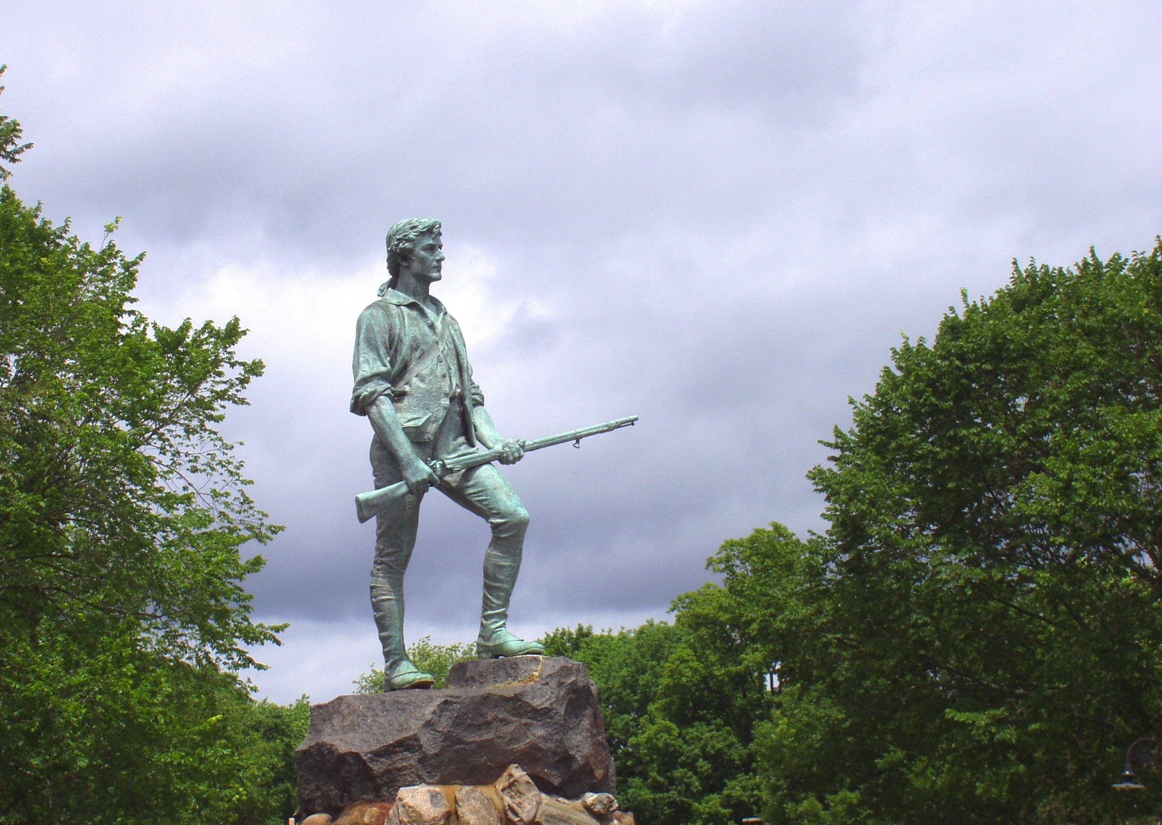 minute man statue lexington HD Wallpaper