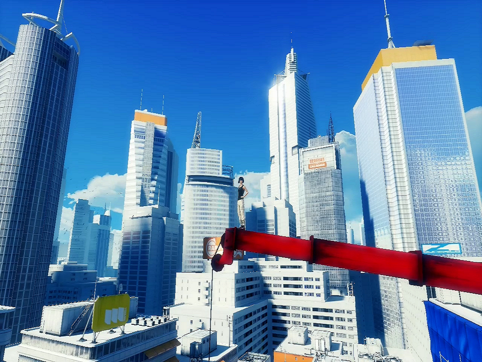 mirrors edge Games buildings HD Wallpaper