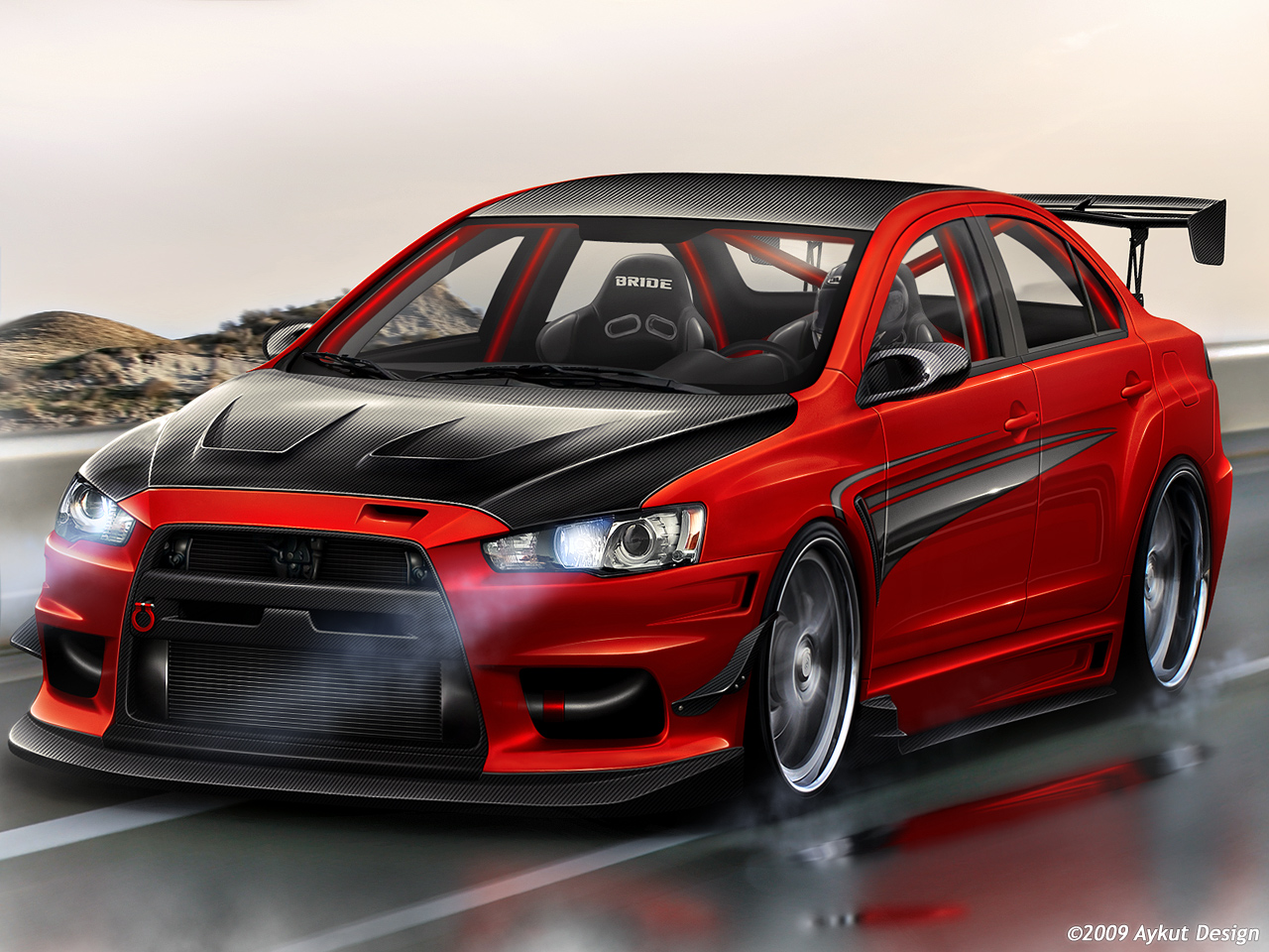 mitsubishi lancer cars HD Wallpaper