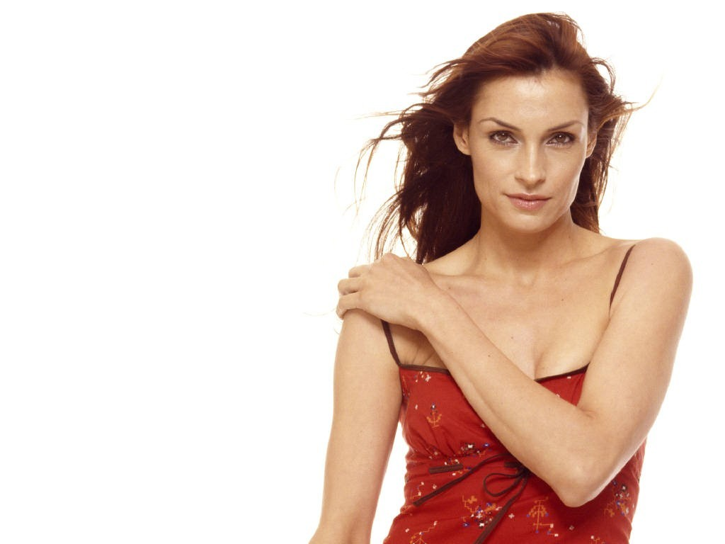 models Famke Janssen Simple HD Wallpaper