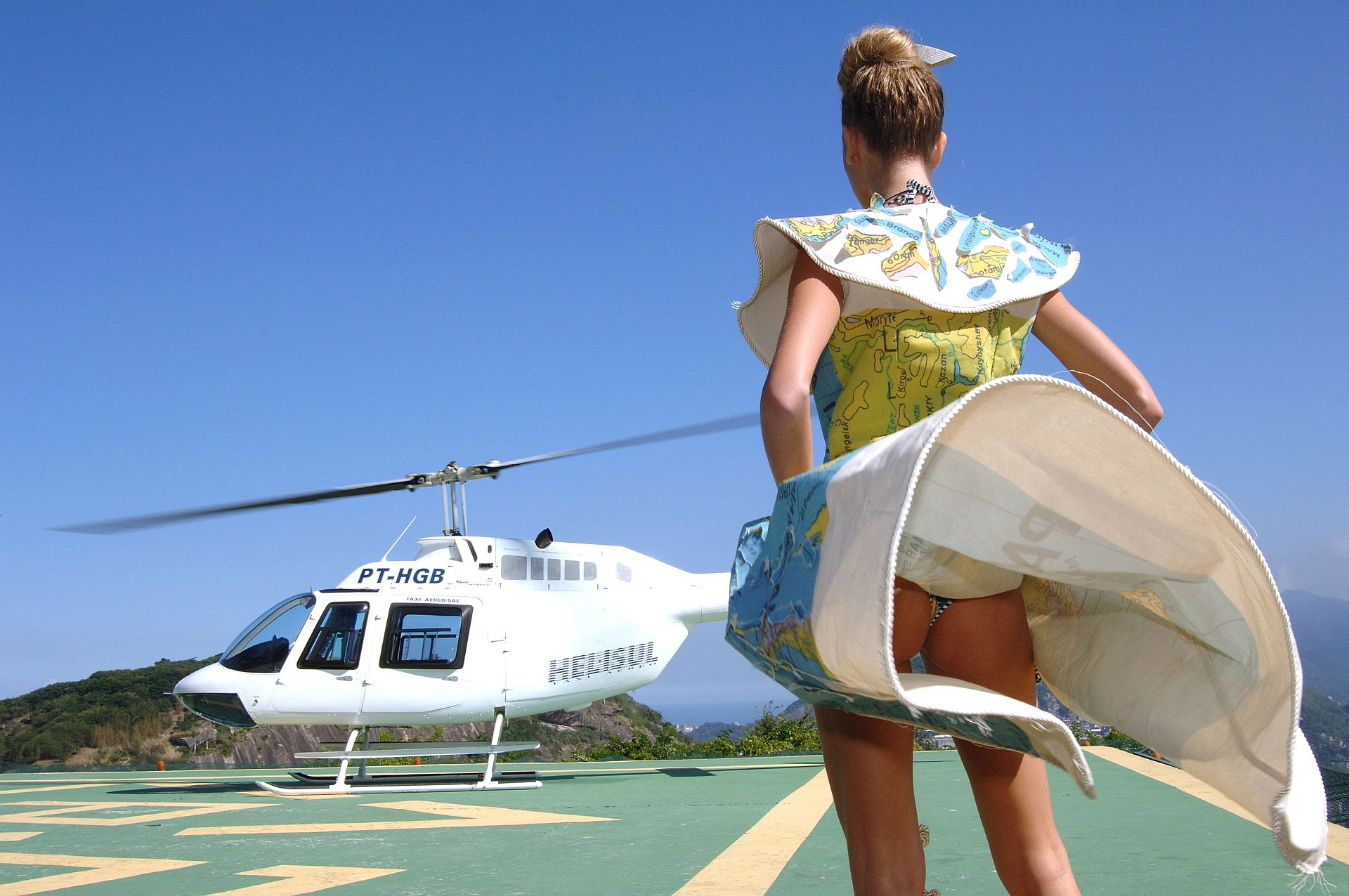 models fashion ass Helicopters HD Wallpaper