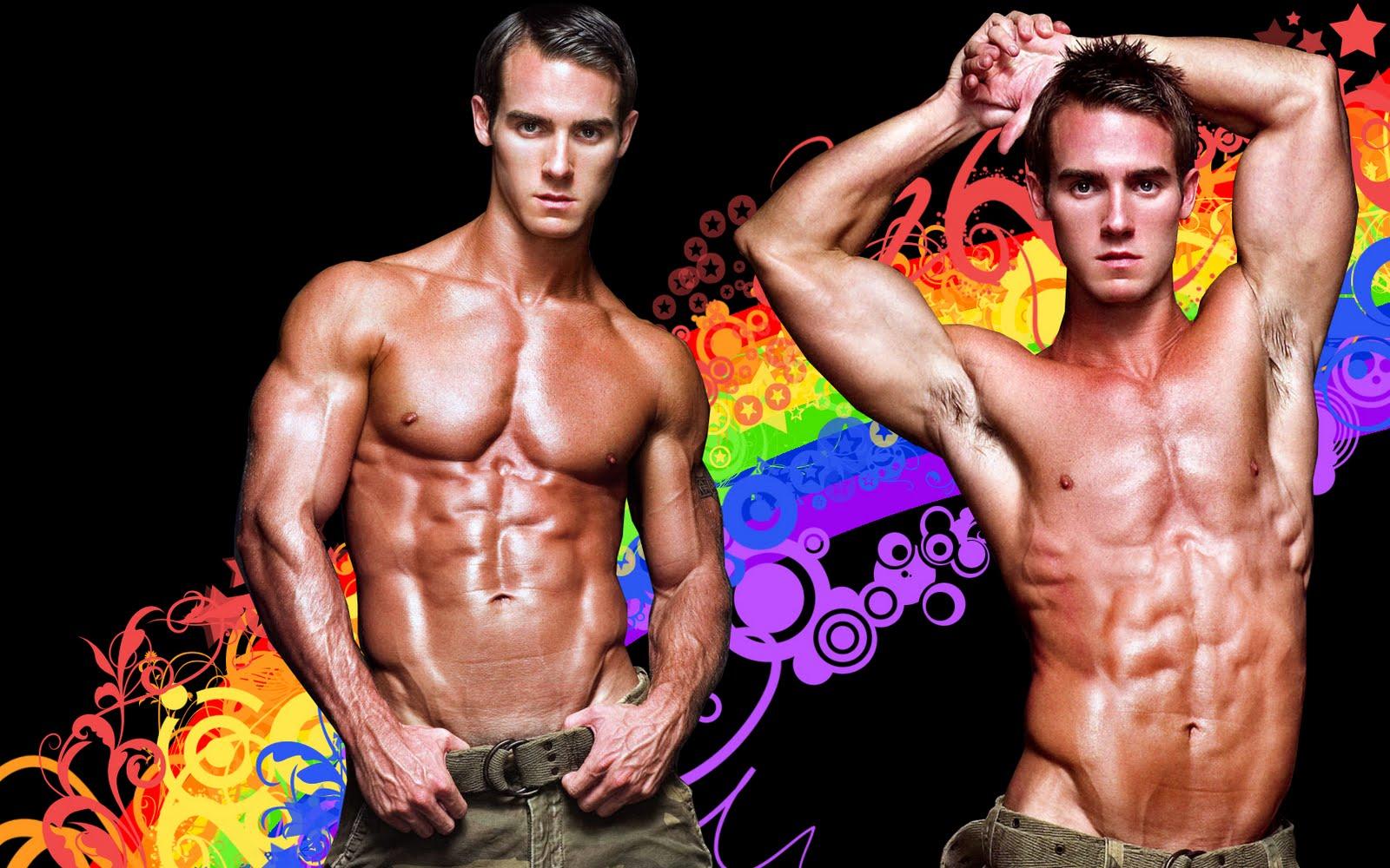 men gay thomas man male guys boys chest abdomen muscular bryan troy philips ...
