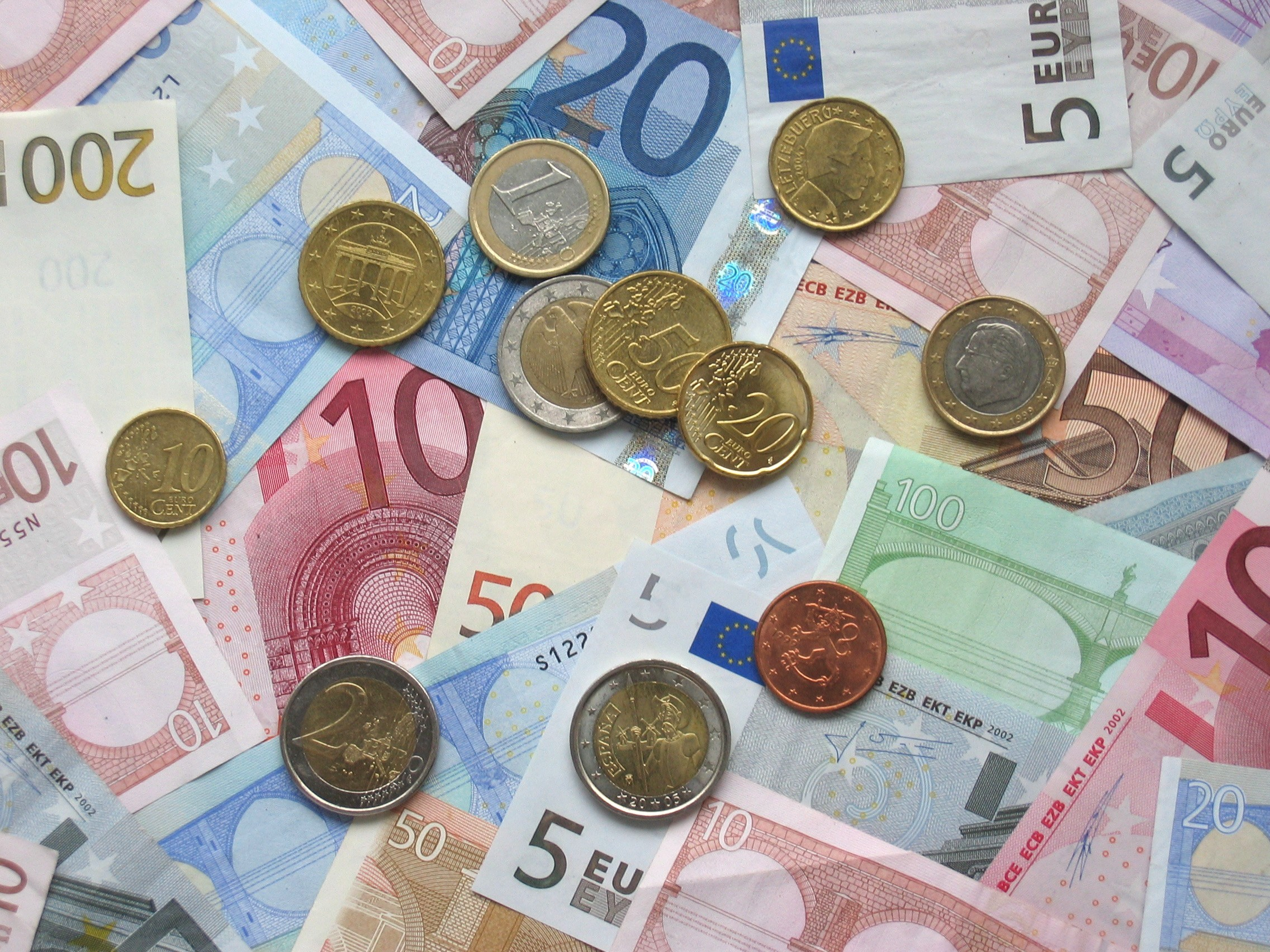 Money cash Euro currency HD Wallpaper