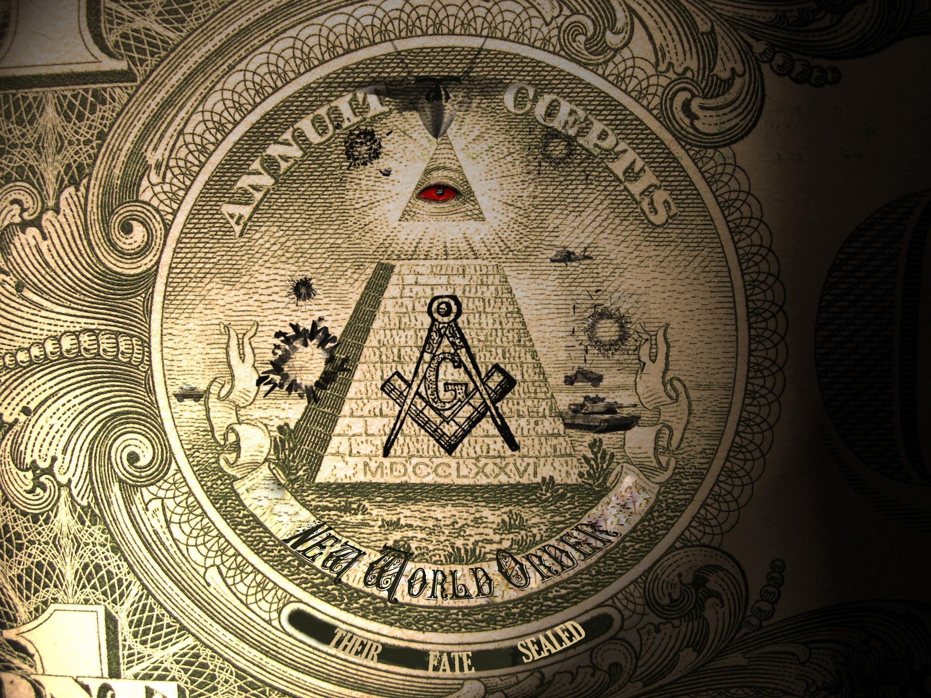 Money Illuminati New World HD Wallpaper