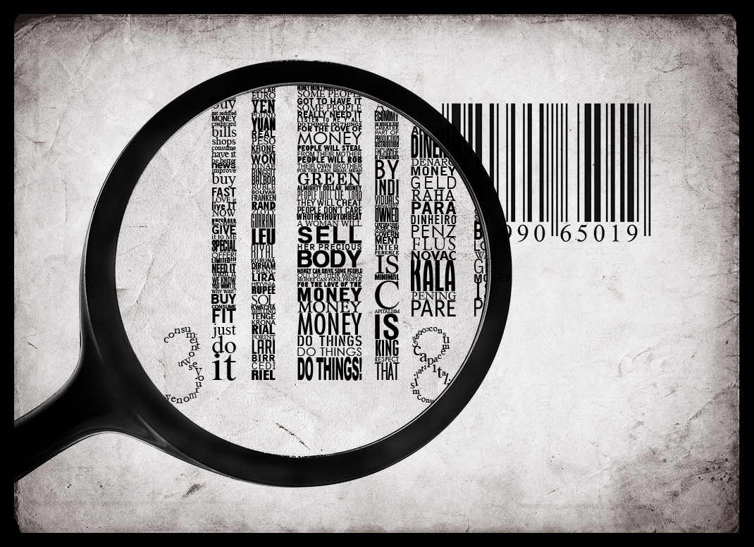 Money Typography barcode facts