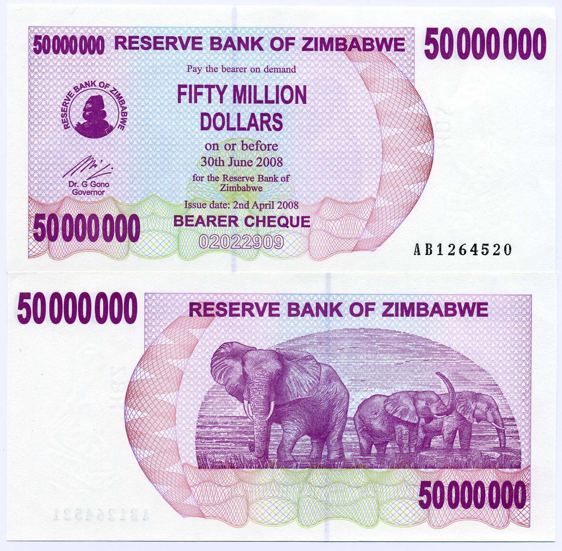 Money zimbabwe million Dollar