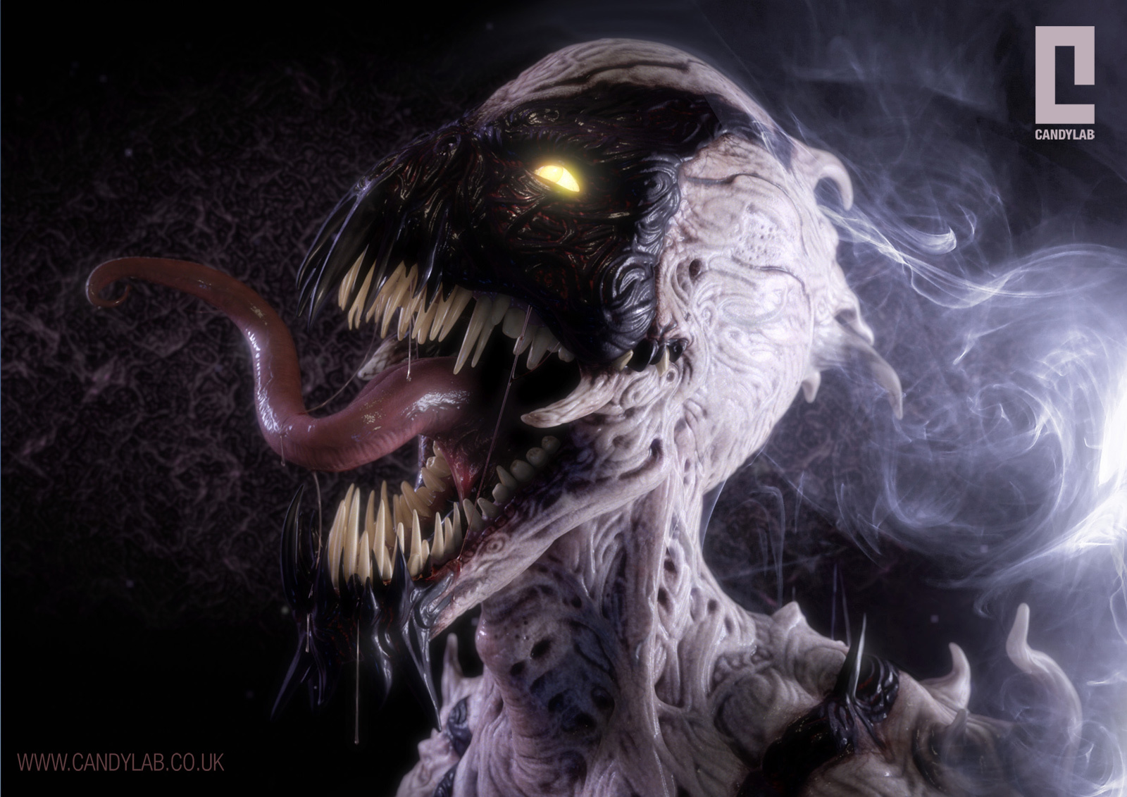 Monsters AntiVenom Spiderman abstract HD Wallpaper