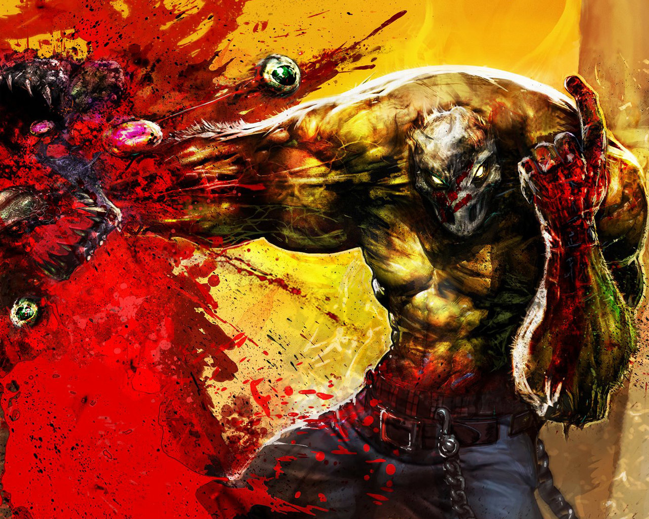 Monsters artwork splatterhouse HD Wallpaper