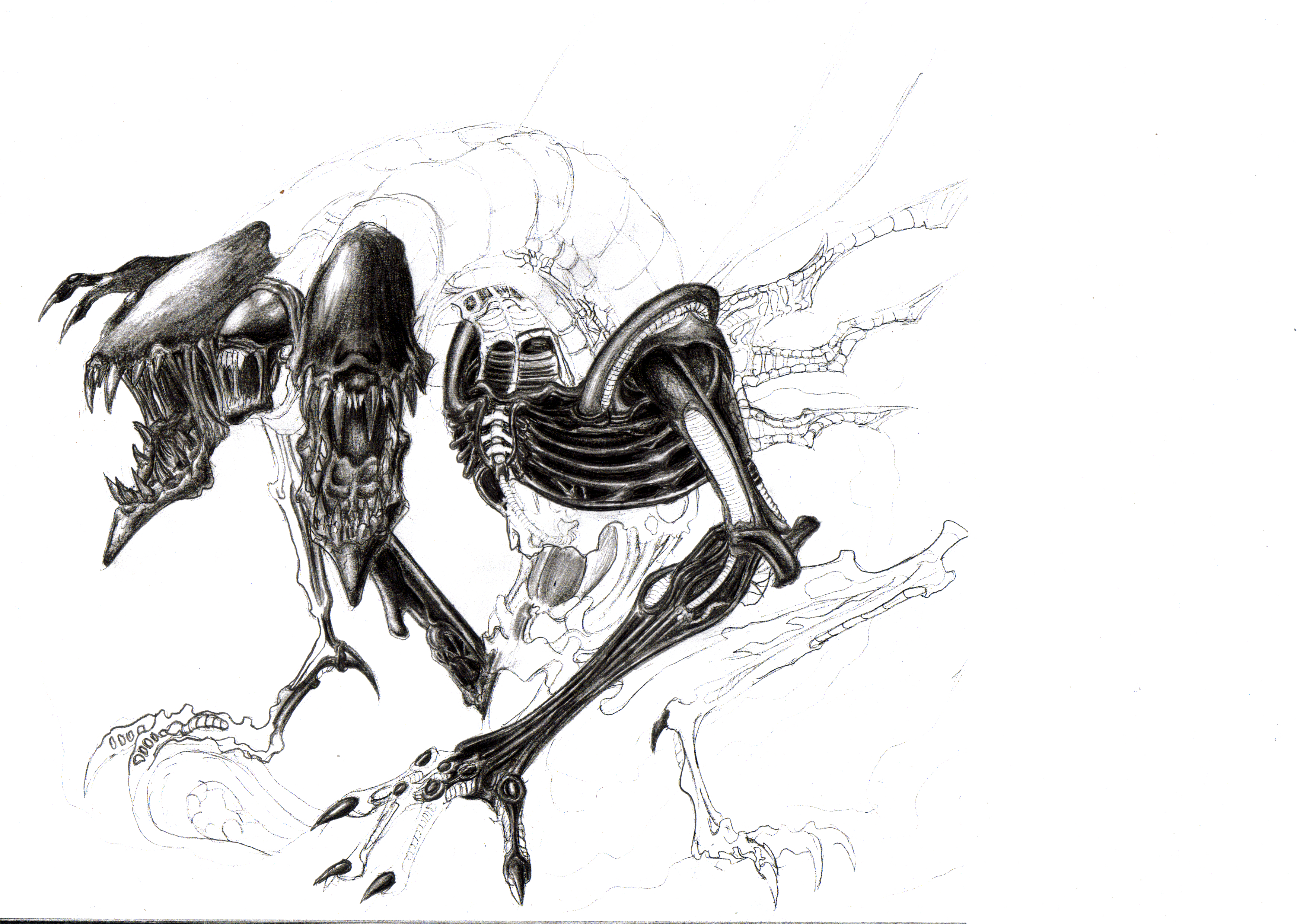 Monsters sketches alien Life HD Wallpaper