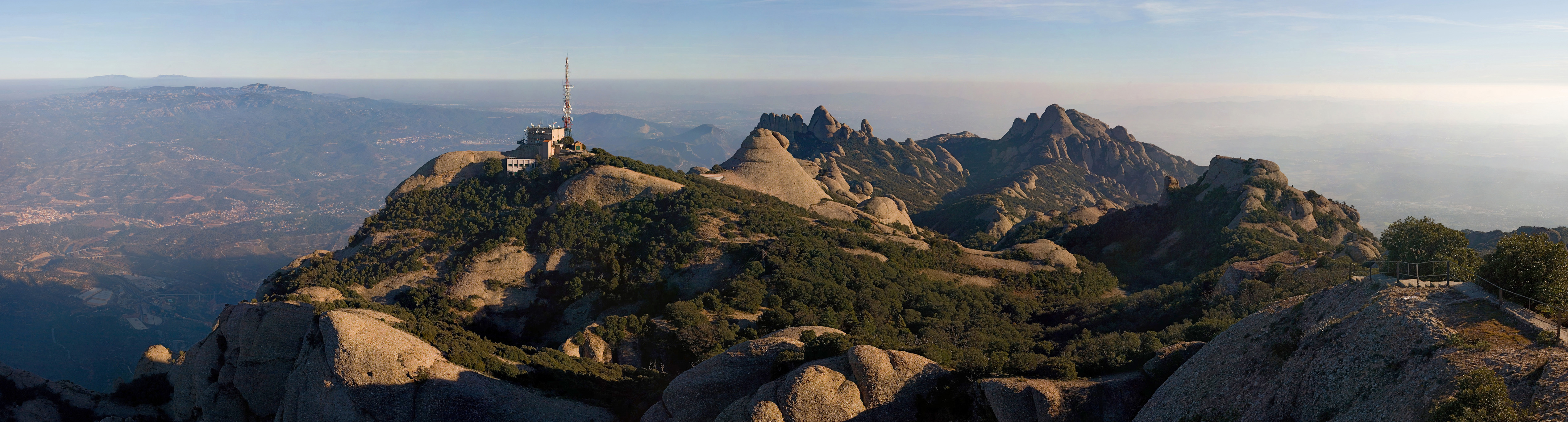 montserrat Mountains Catalonia Spain HD Wallpaper