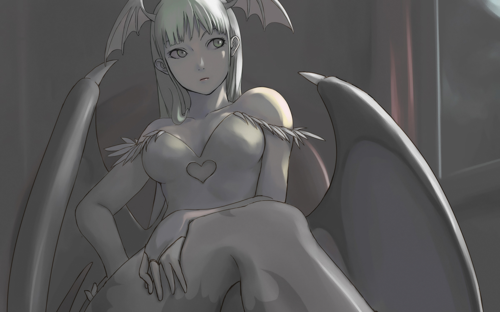 Morrigan Aensland anime girls HD Wallpaper