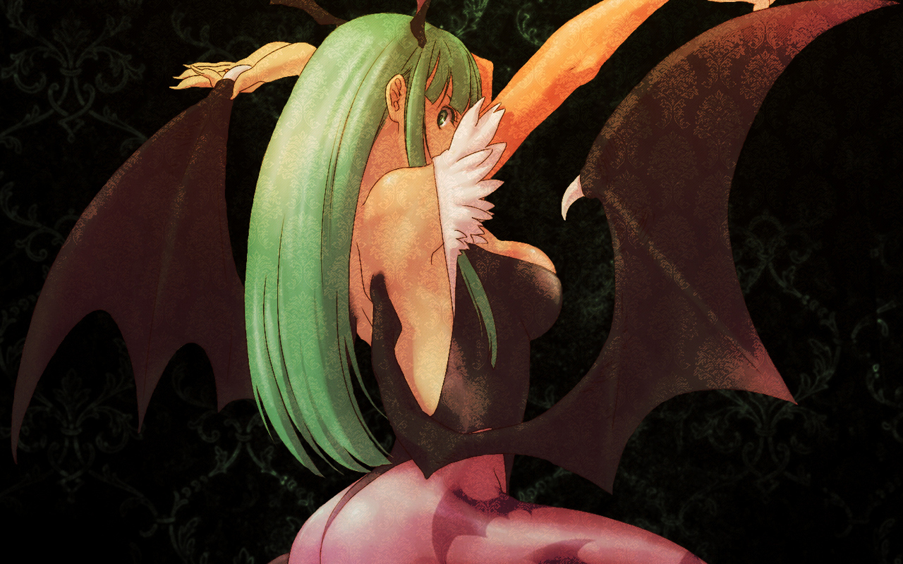 Morrigan Aensland Darkstalkers HD Wallpaper