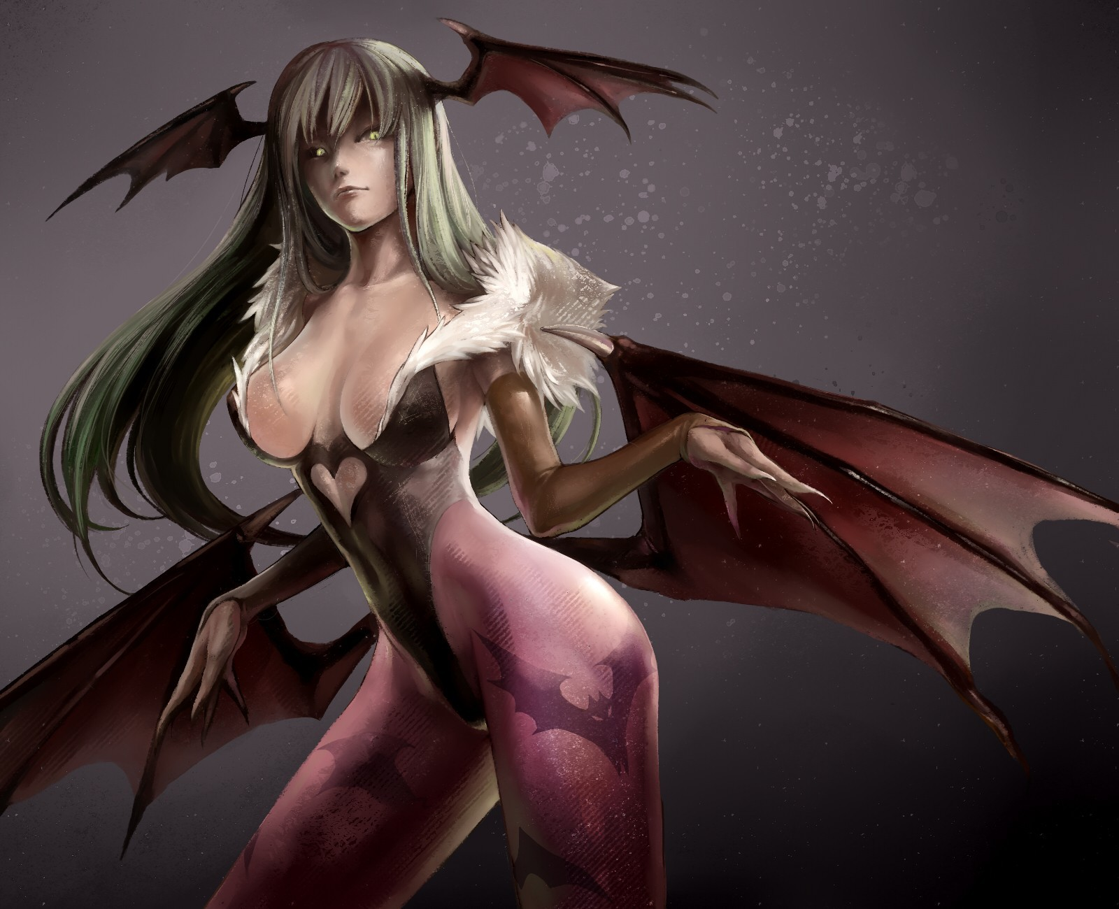 Morrigan Aensland Demon Girl HD Wallpaper