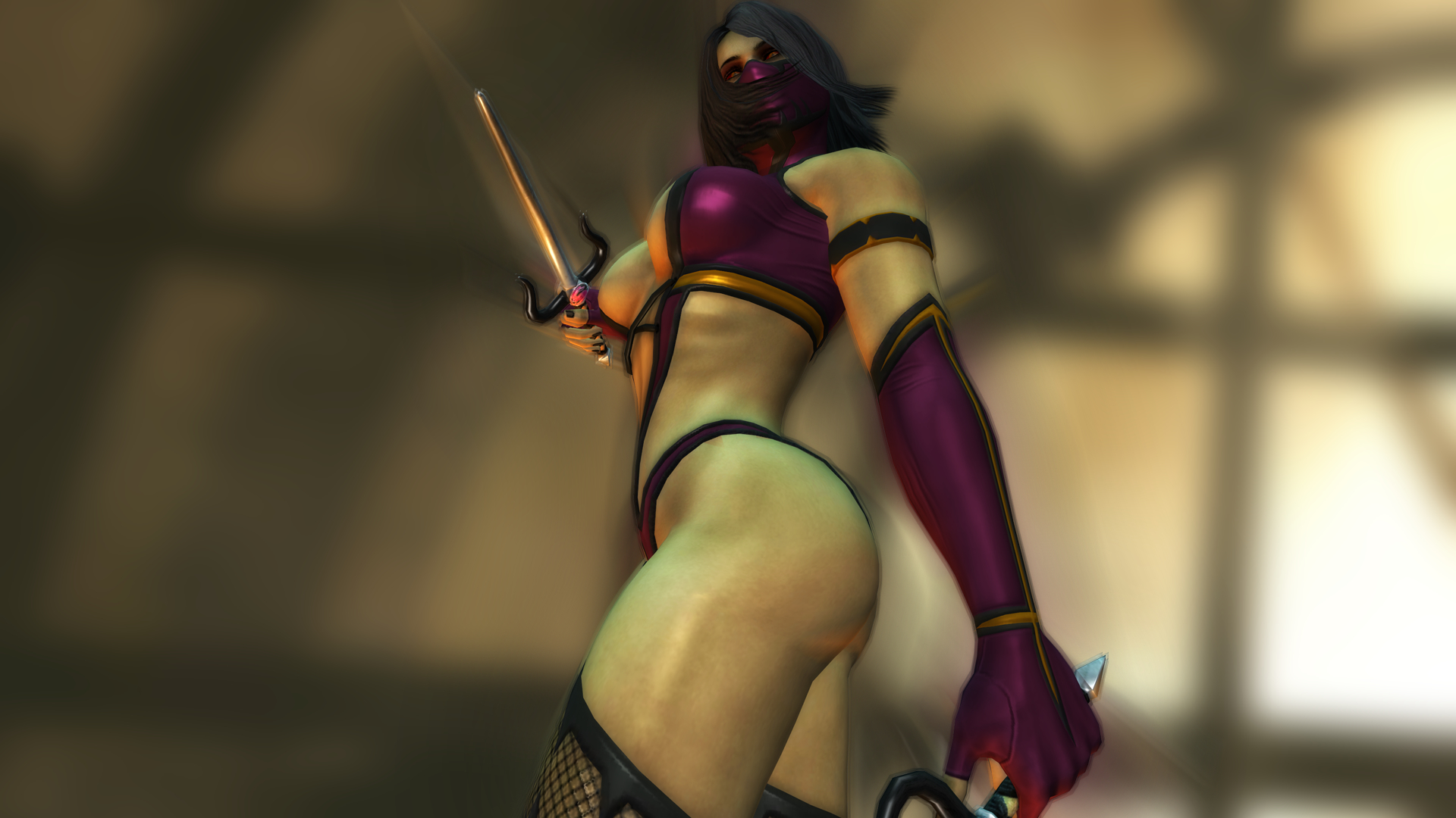 mortal kombat Mileena low-angle HD Wallpaper