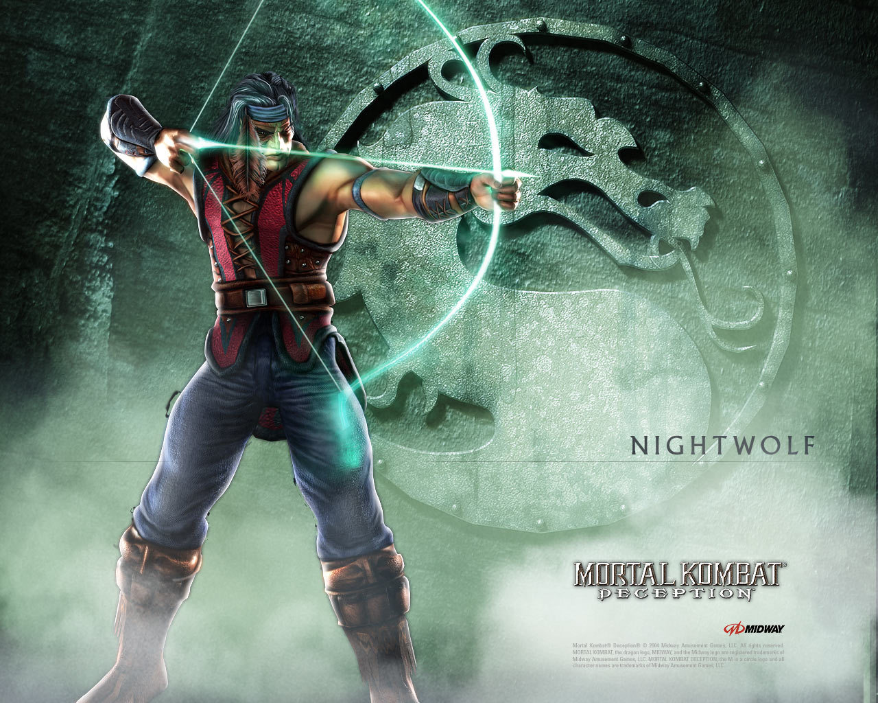 mortal kombat nightwolf logo HD Wallpaper