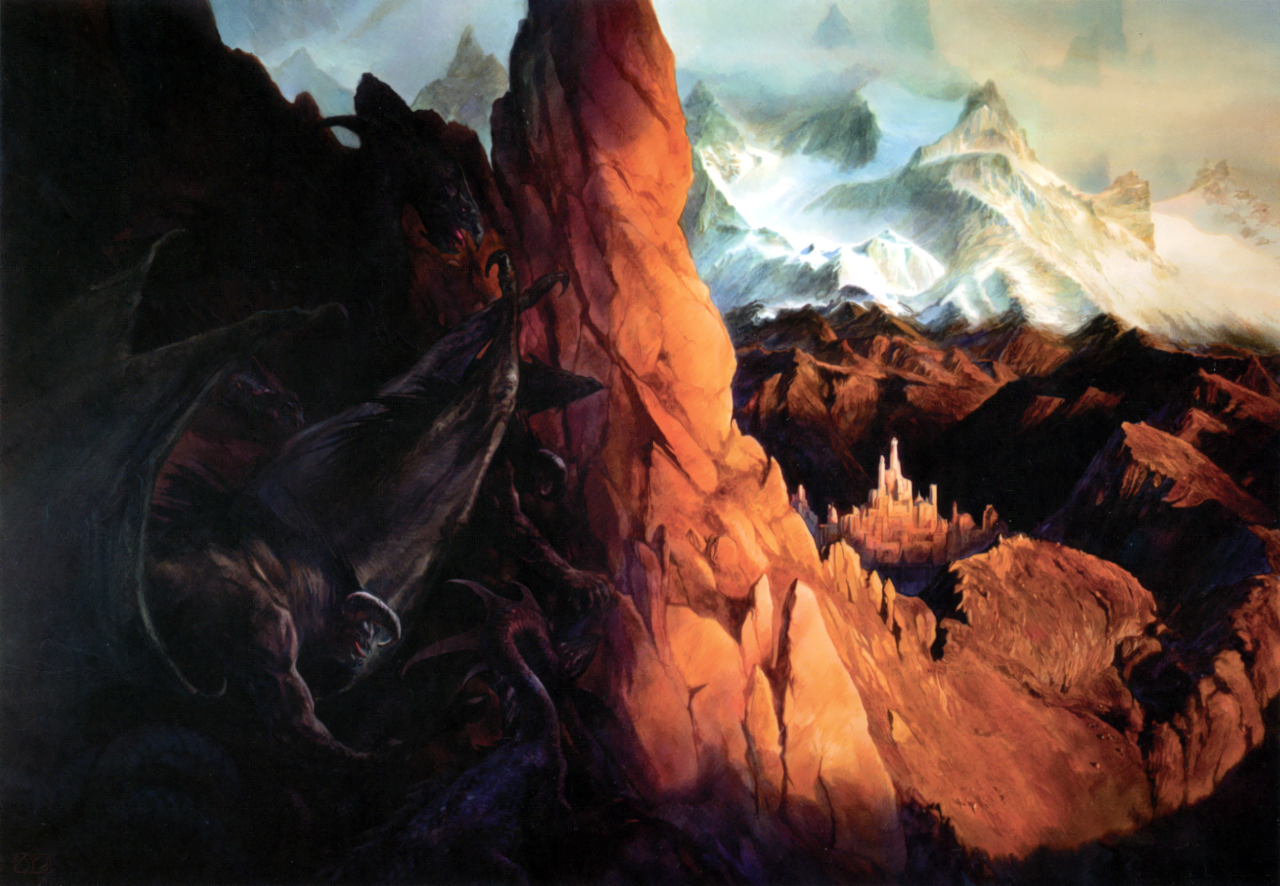 Mountains demons the lord HD Wallpaper