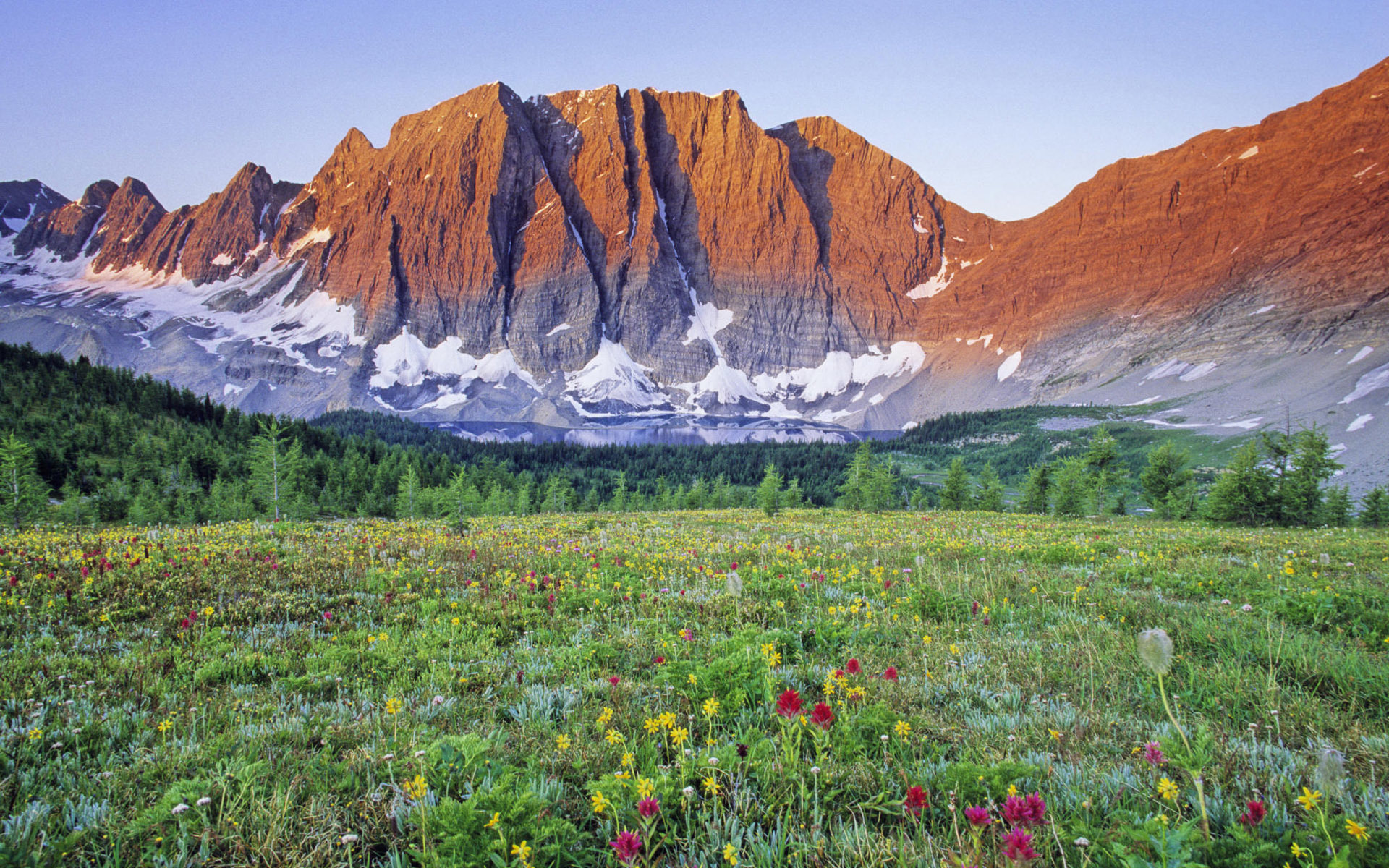 Mountains Landscapes meadows Canada HD Wallpaper