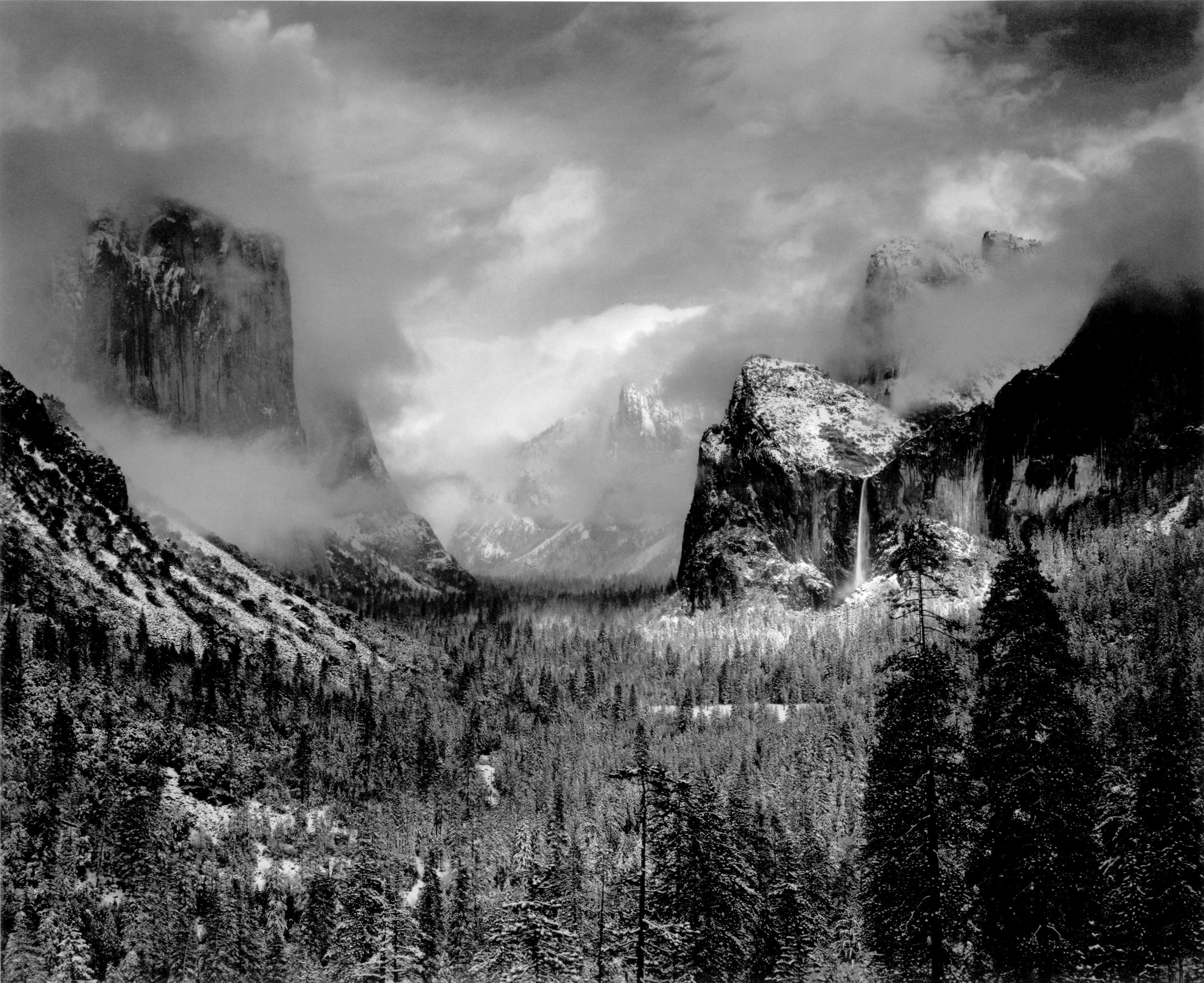 ansel adams yosemite valley clearing winterstorm high resolution