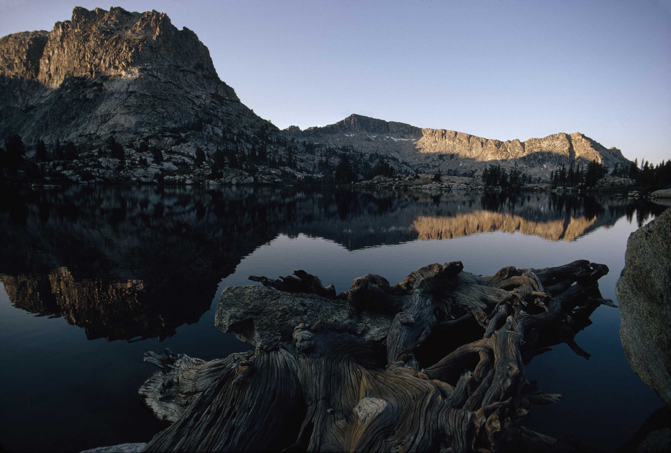 Mountains Wood California lakes HD Wallpaper