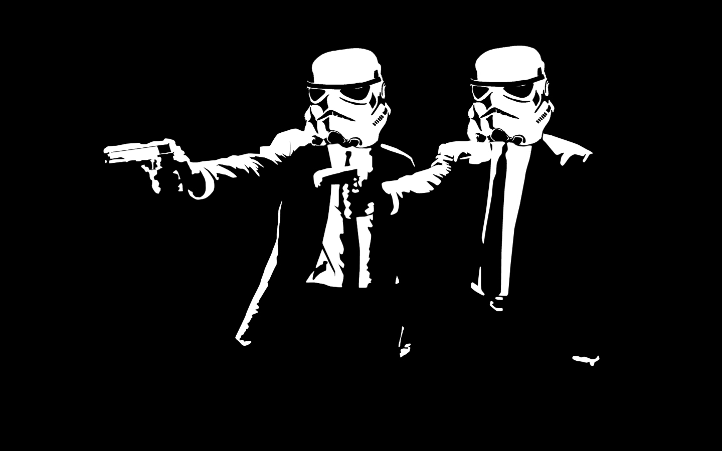Movie stormtroopers pulp fiction HD Wallpaper