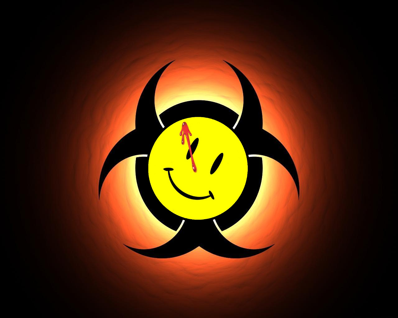 Movie Watchmen Nuclear smiley HD Wallpaper