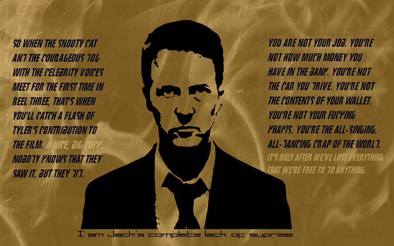 Movies Quotes fight club HD Wallpaper