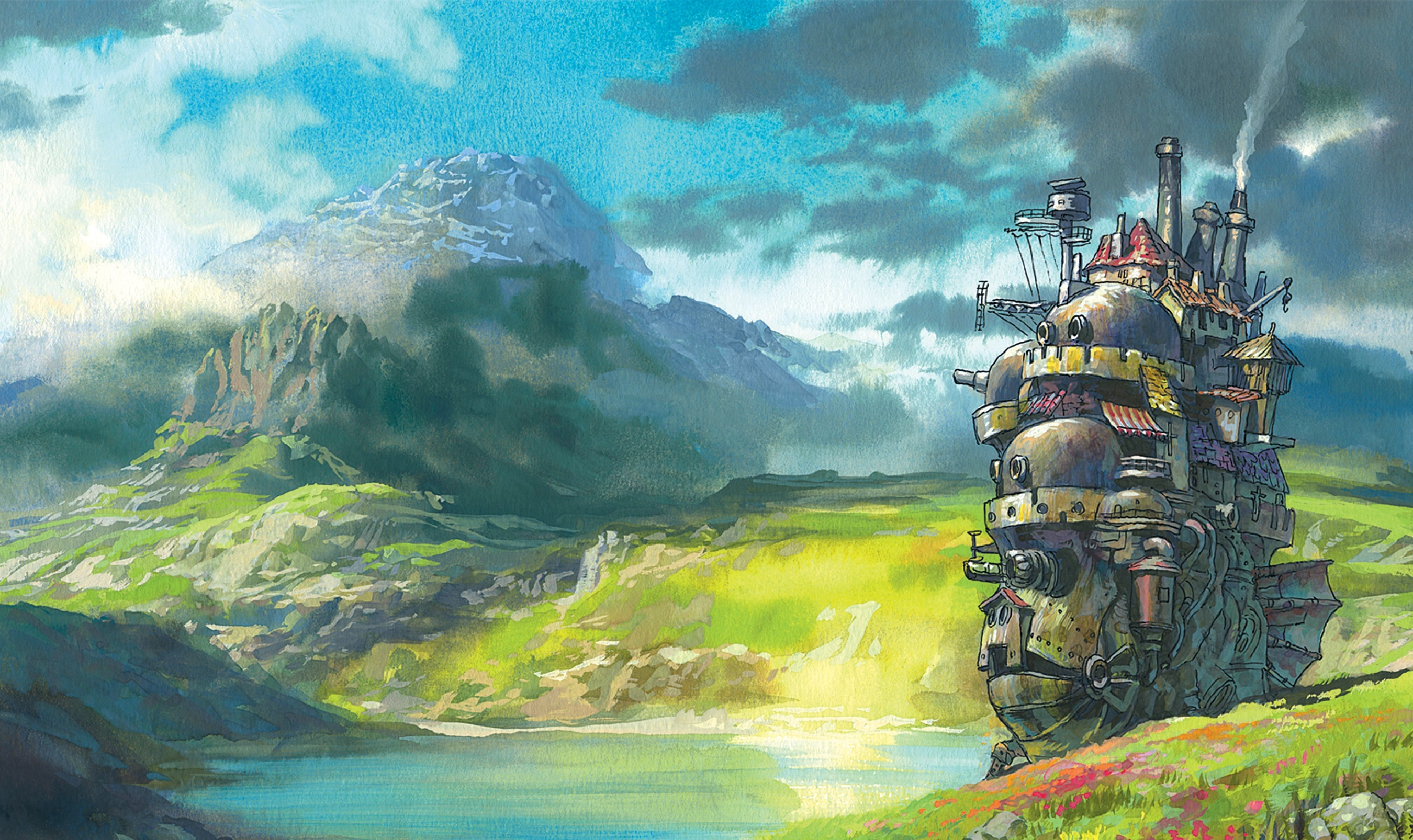moving castle Anime Howl HD Wallpaper