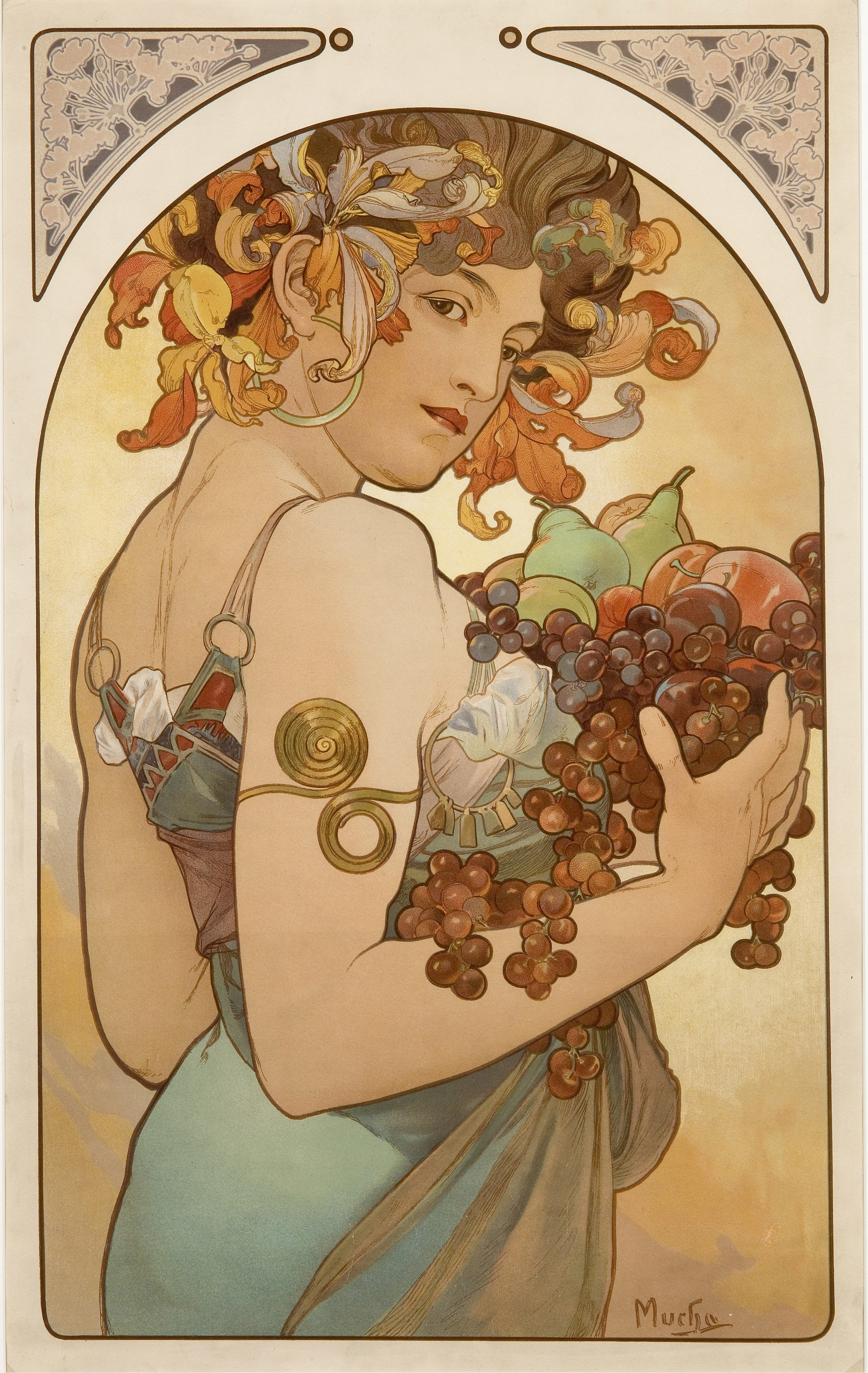 mucha fruit high alfons HD Wallpaper