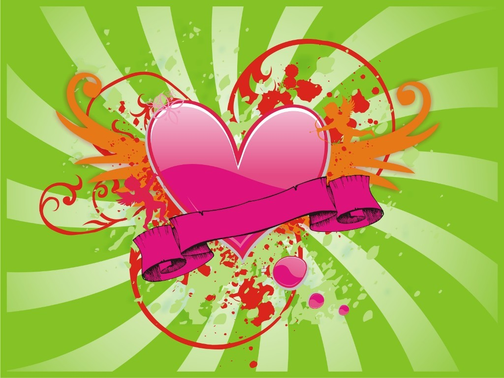 multi colored heart love HD Wallpaper
