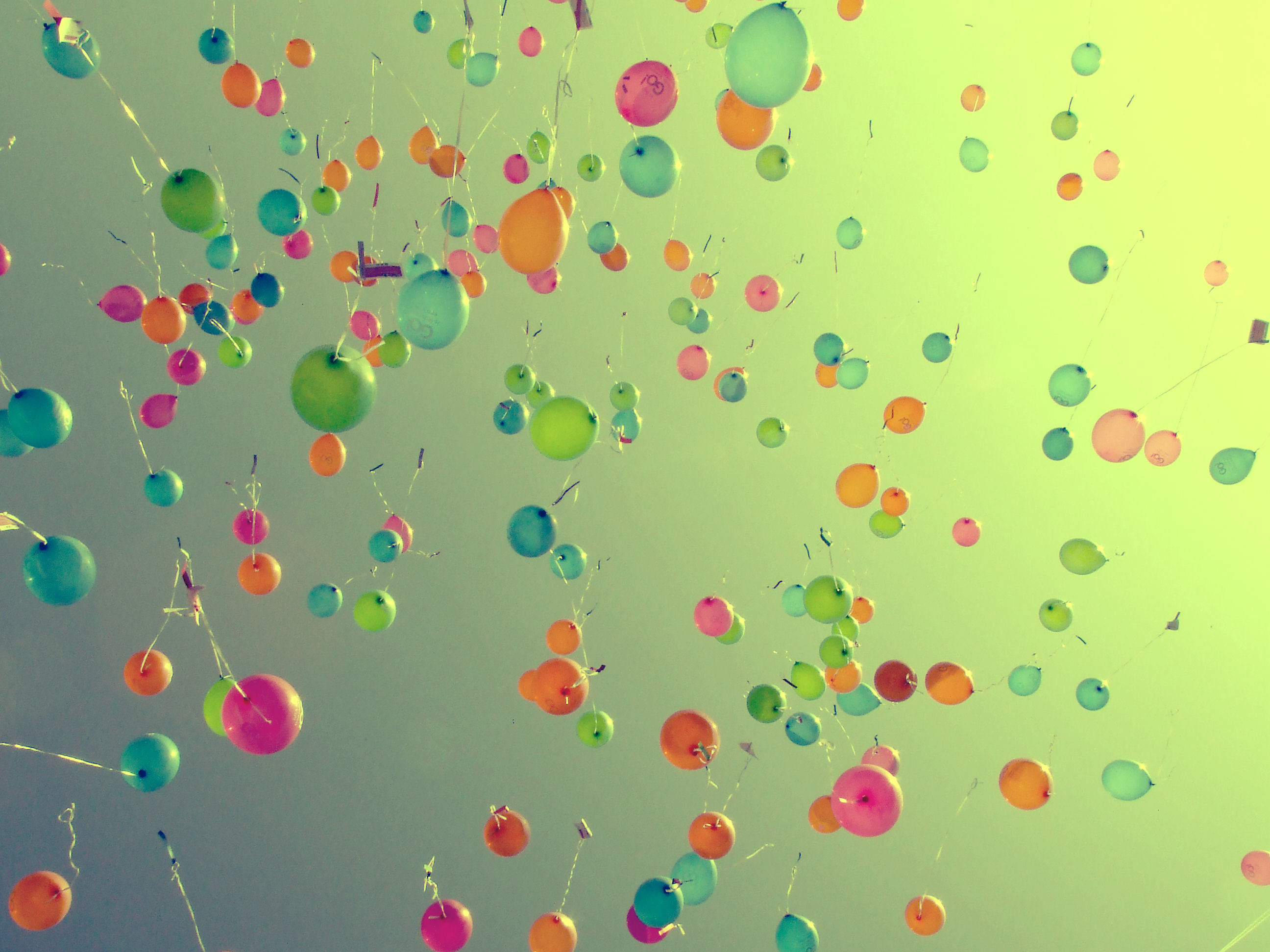 multicolor Balloons skyscapes