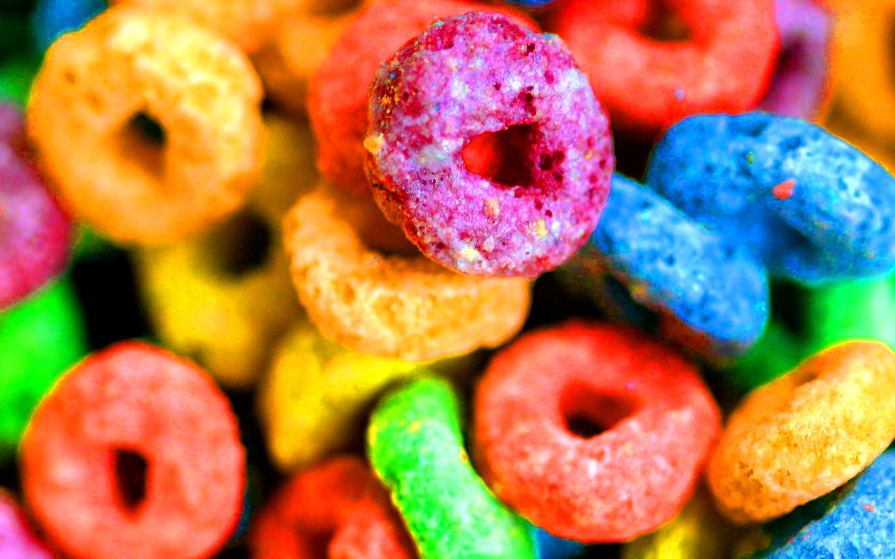 multicolor cereal Froot Loops