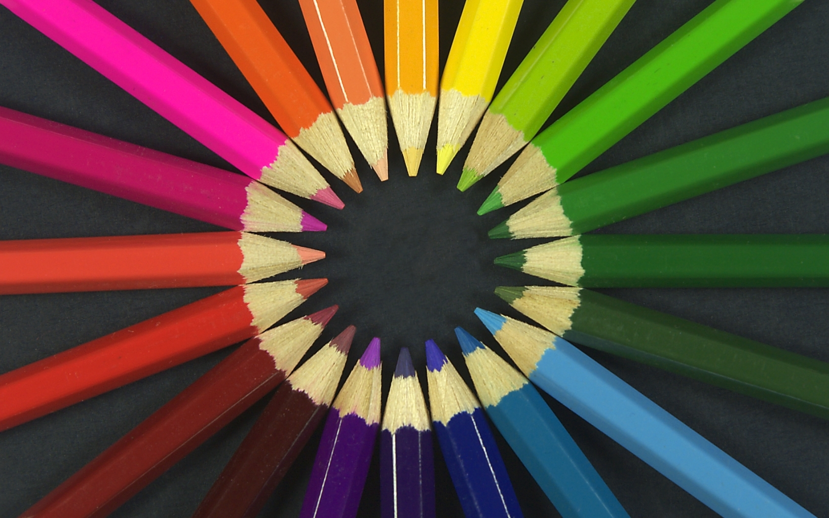 multicolor circles Crayons rainbows