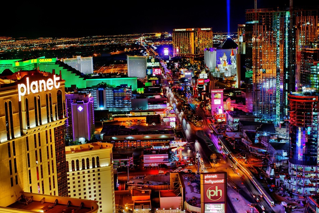 multicolor cityscapes HD Wallpaper