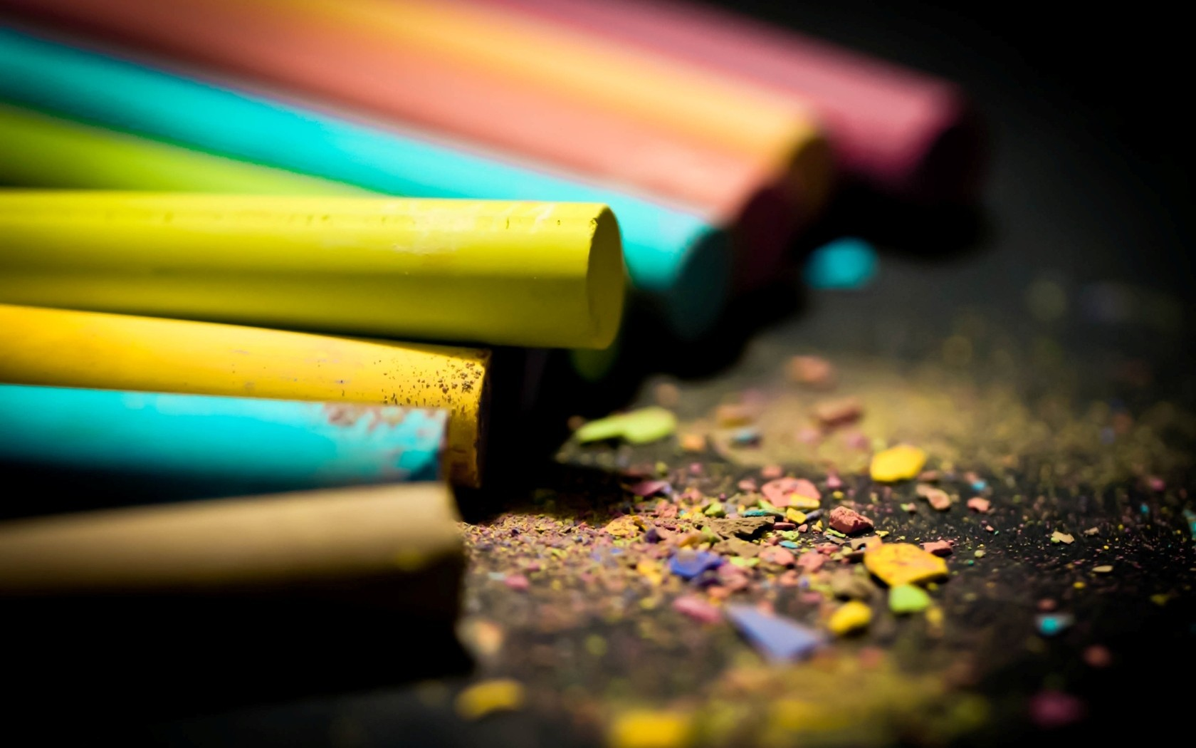 multicolor Crayons macro HD Wallpaper