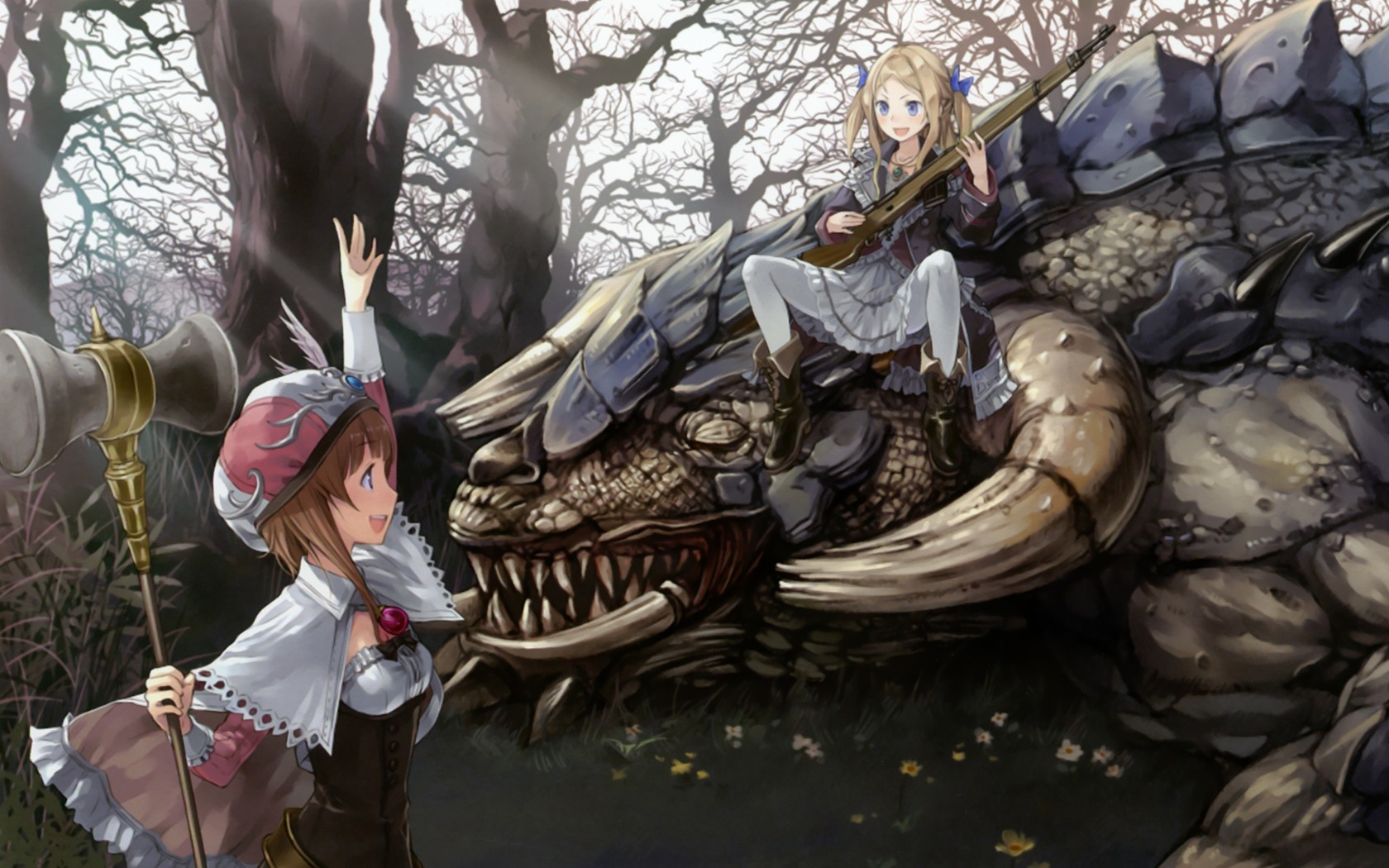 multicolor creatures hunting kishida HD Wallpaper