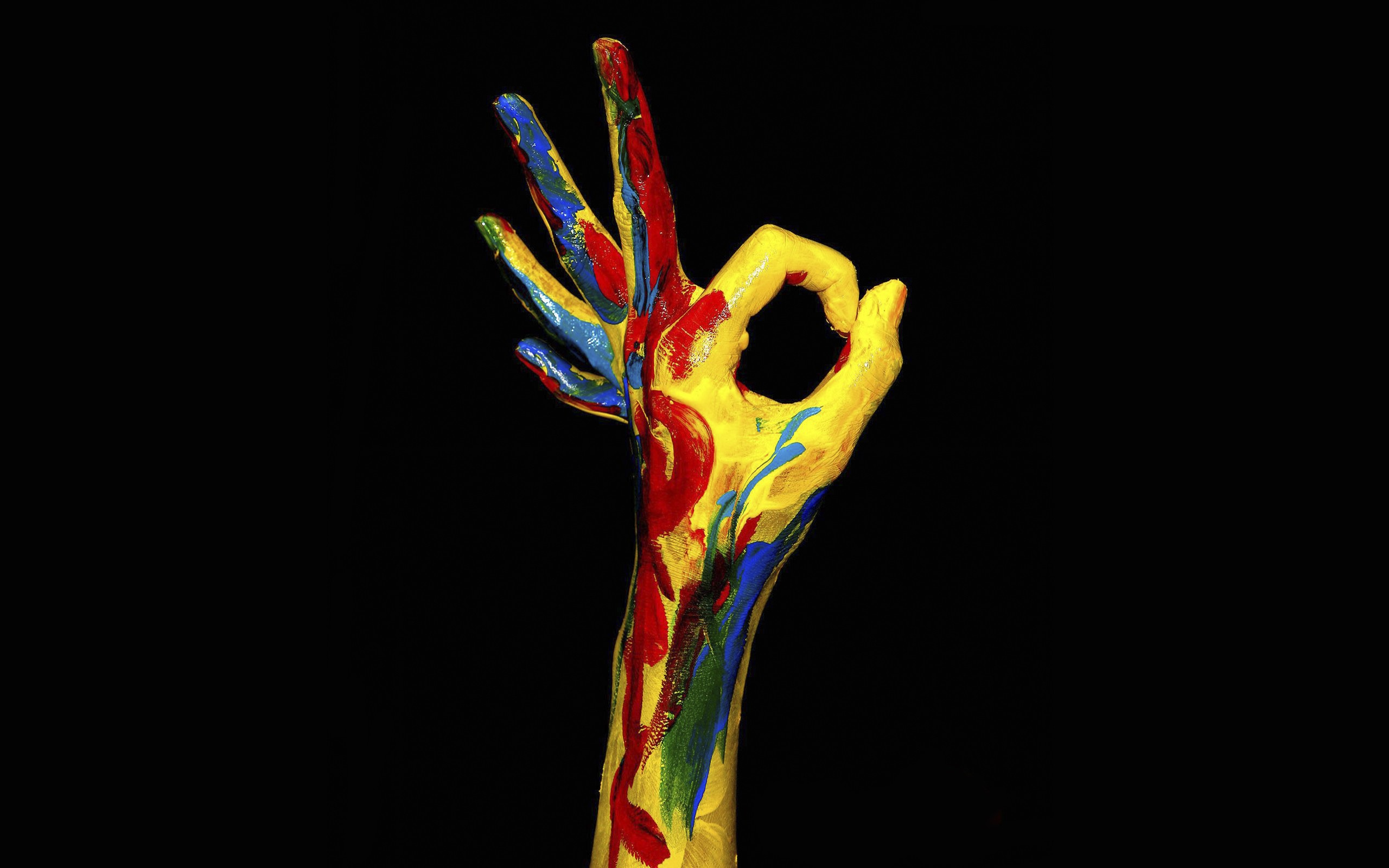 multicolor hands HD Wallpaper