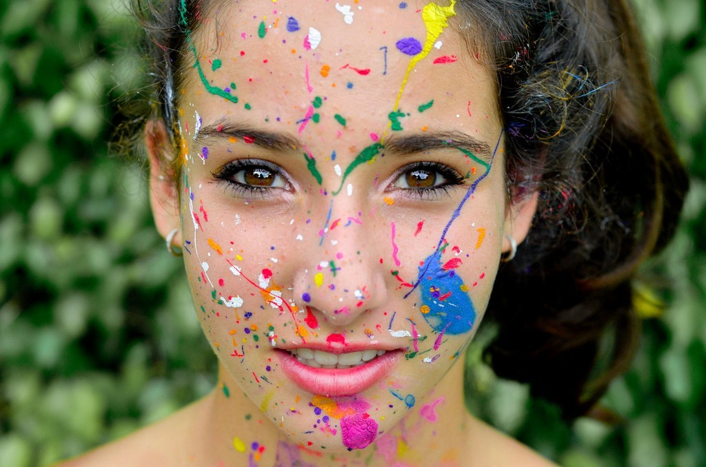 multicolor paint faces Alana HD Wallpaper