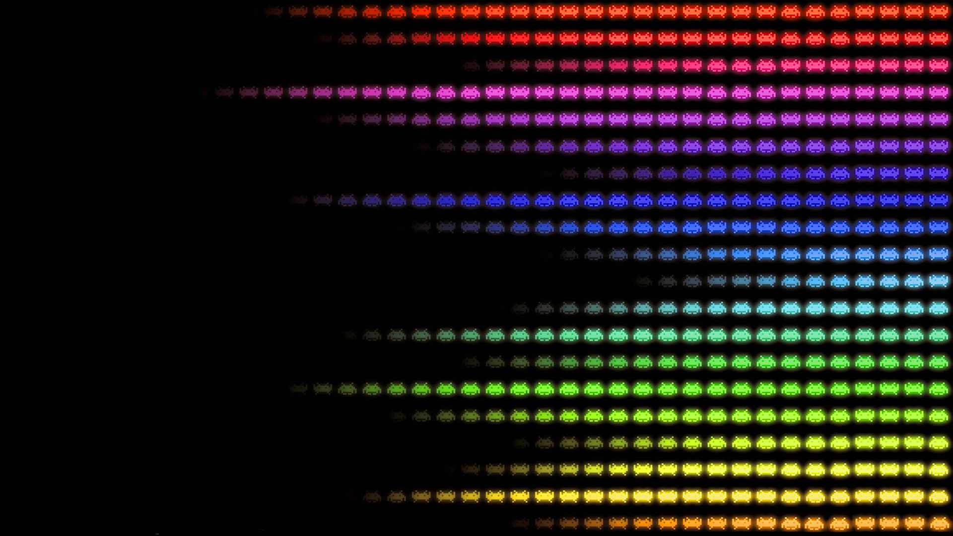 multicolor patterns Space Invaders HD Wallpaper