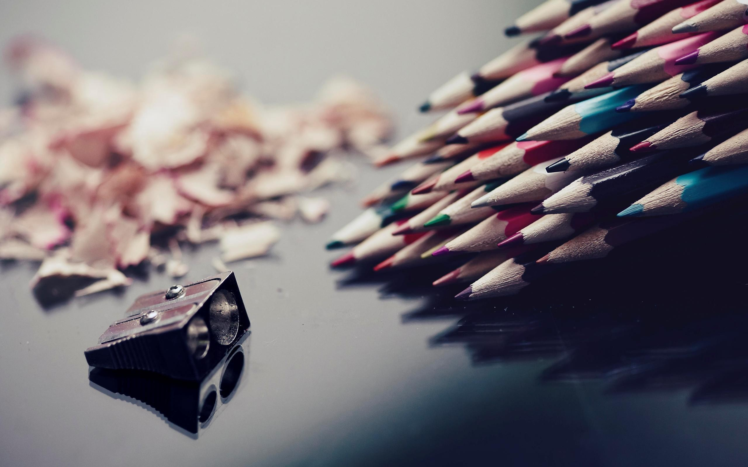 multicolor Pencils pencil sharpeners HD Wallpaper