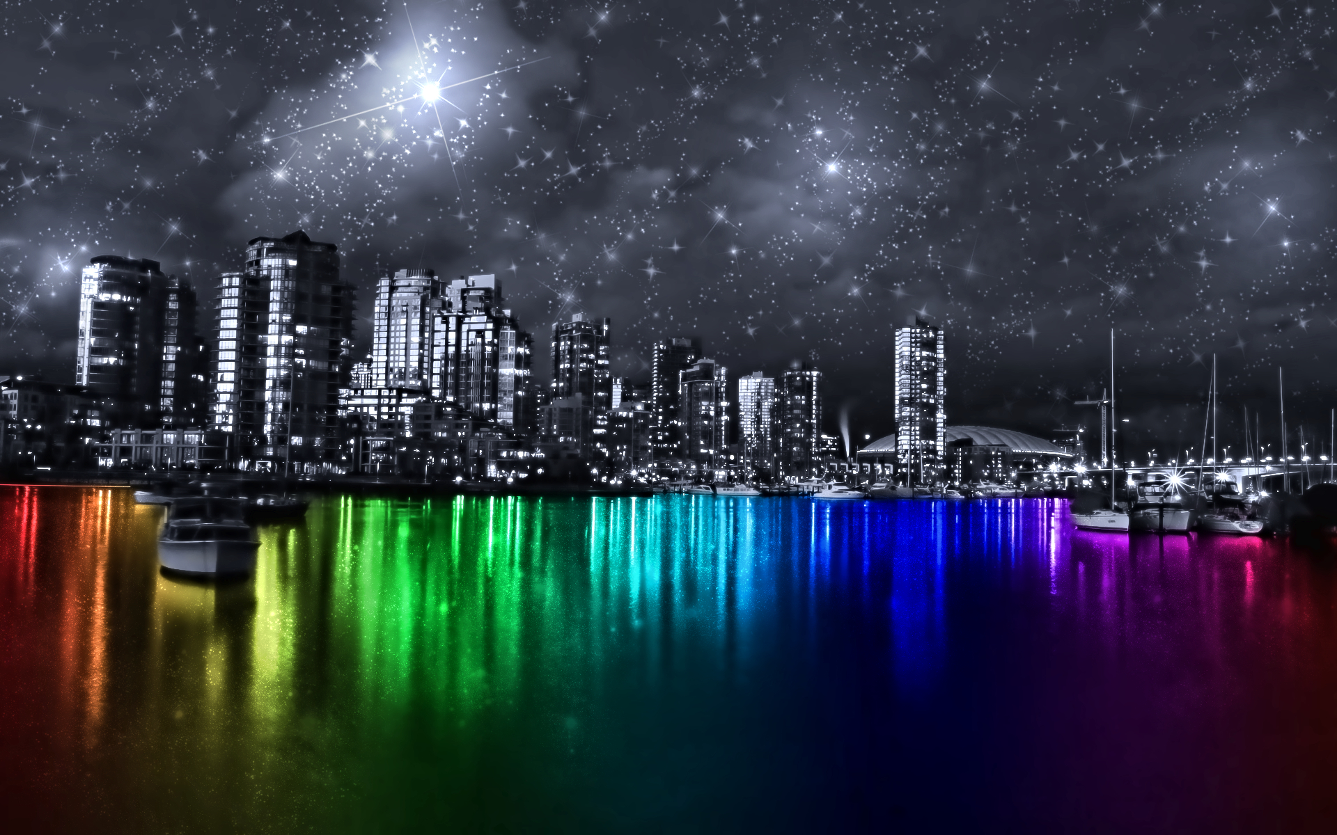 multicolor vancouver cities colorful HD Wallpaper