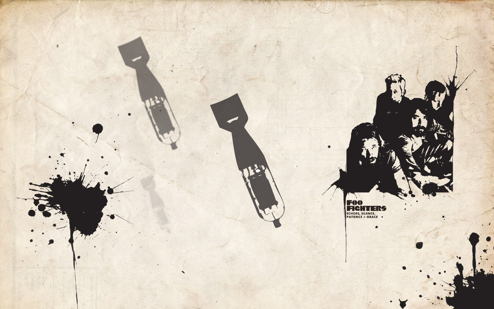 Music bombs blood foo HD Wallpaper