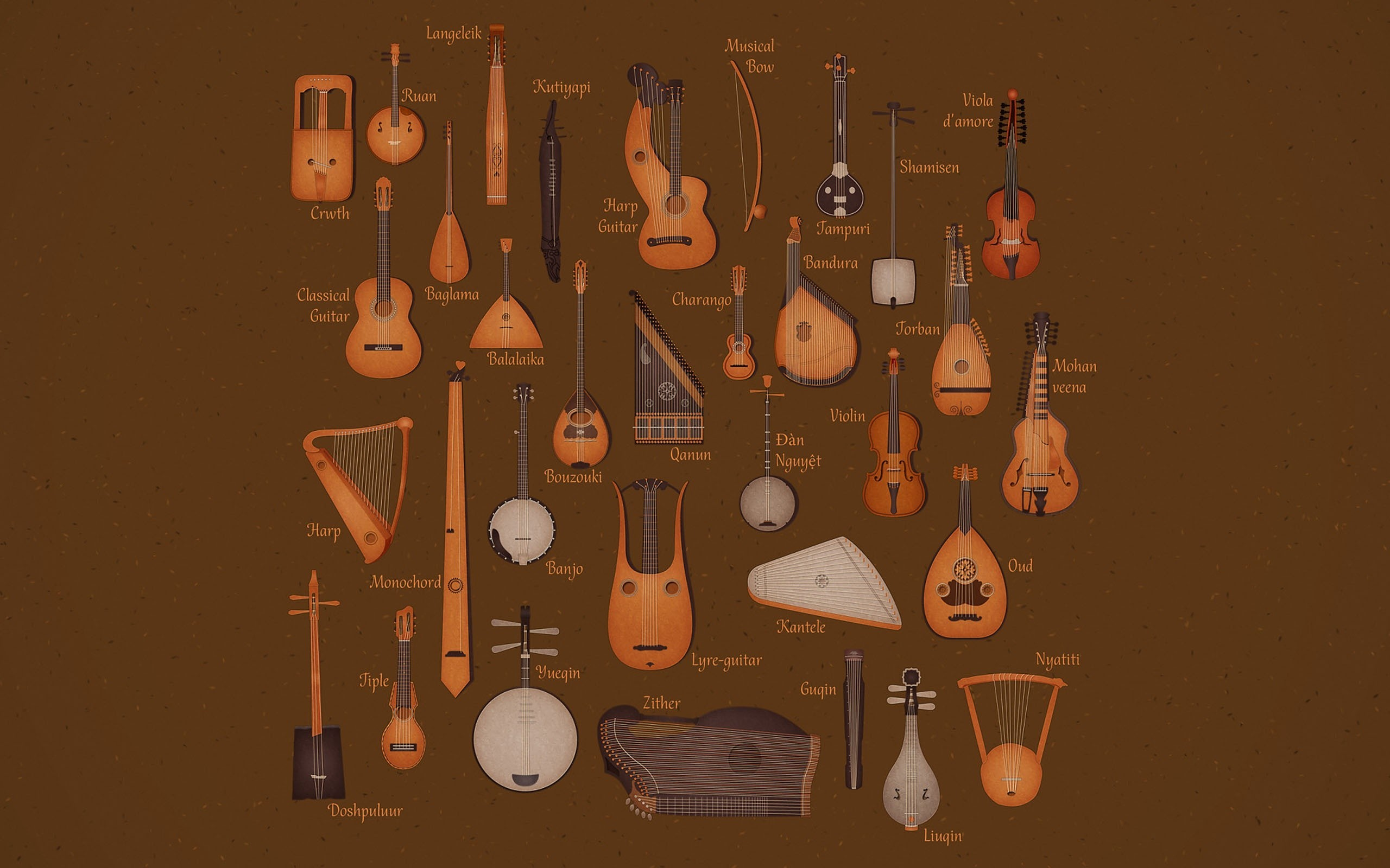 Music instruments comparisons HD Wallpaper