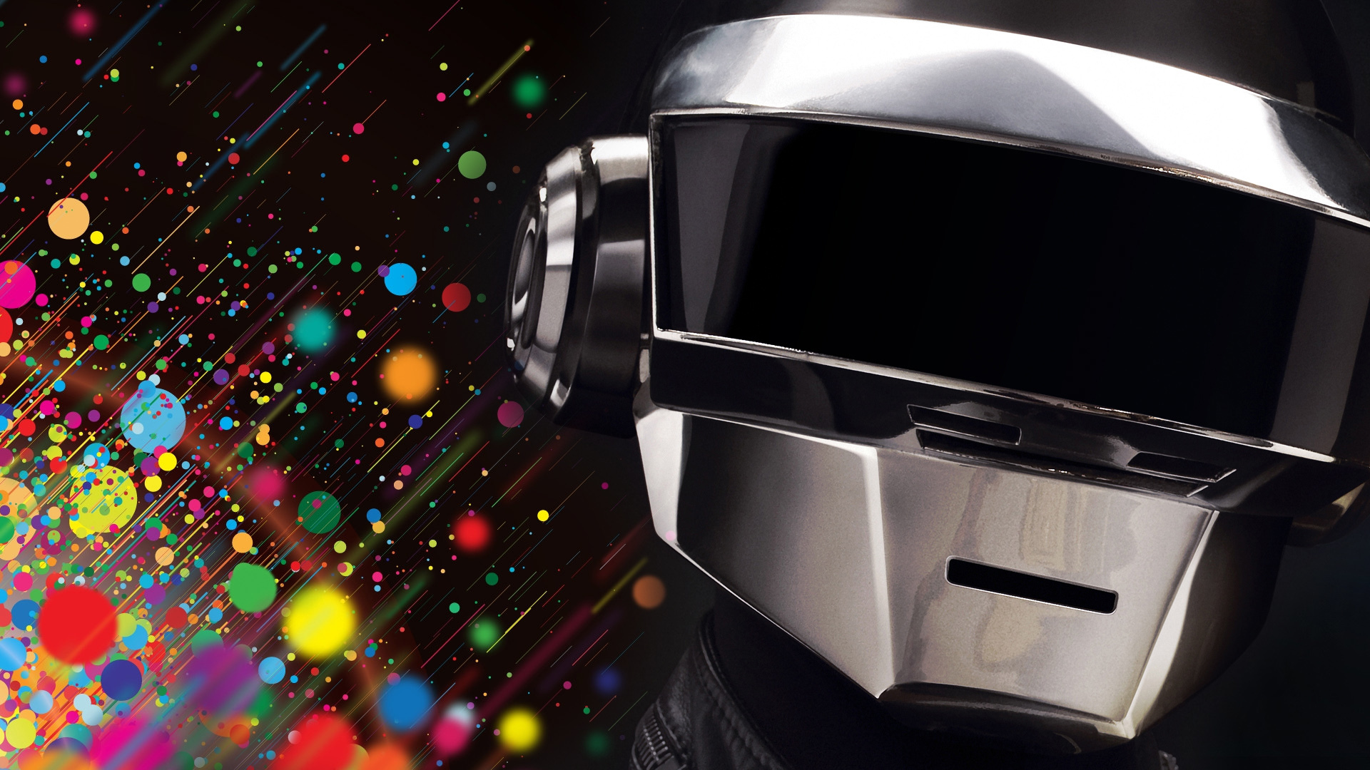Music multicolor daft punk HD Wallpaper