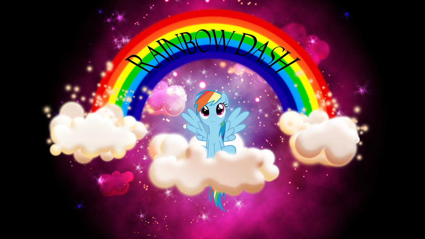 My little pony rainbow HD Wallpaper