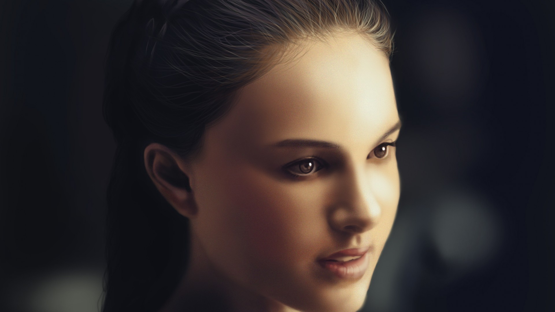 Natalie Portman artwork Celebrity HD Wallpaper